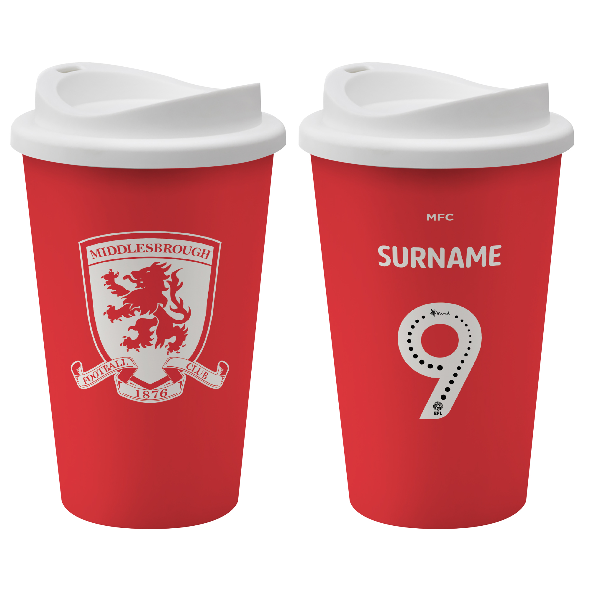 Middlesbrough FC Back of Shirt Reusable Cup