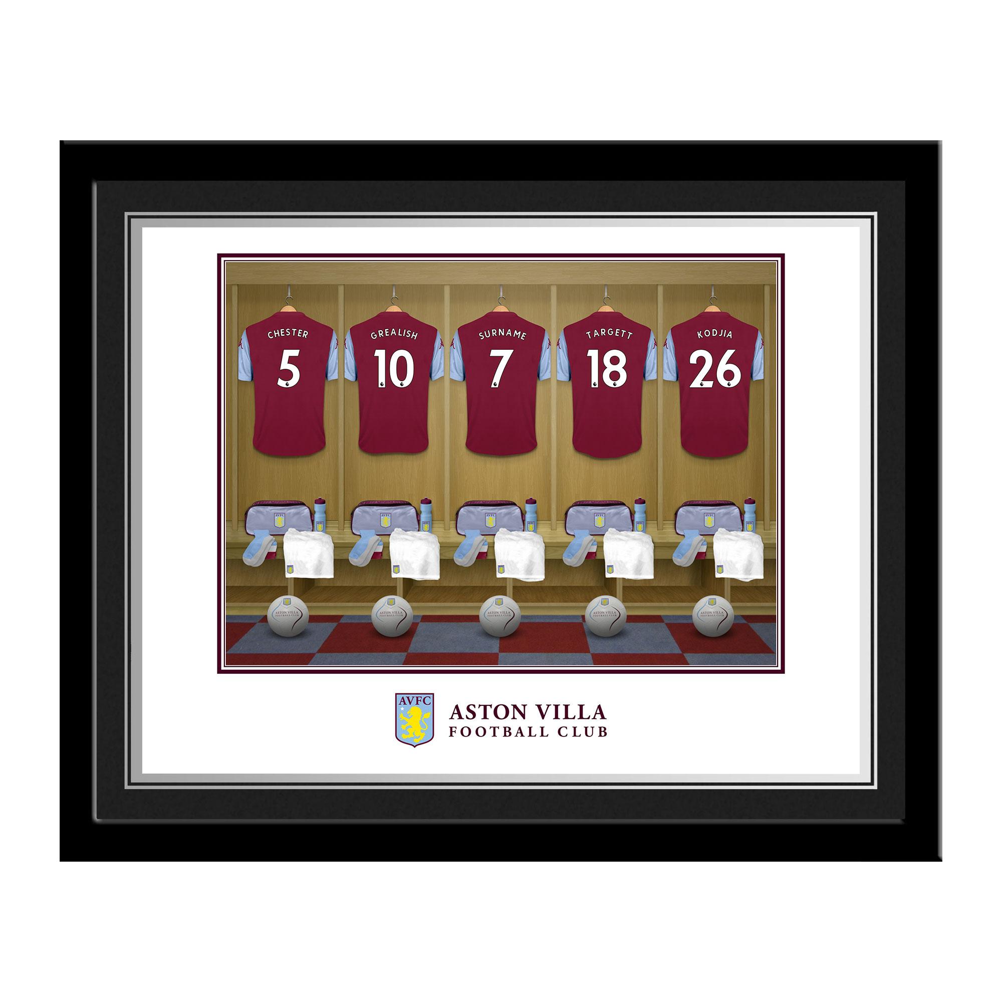 Aston Villa FC Dressing Room Photo Framed