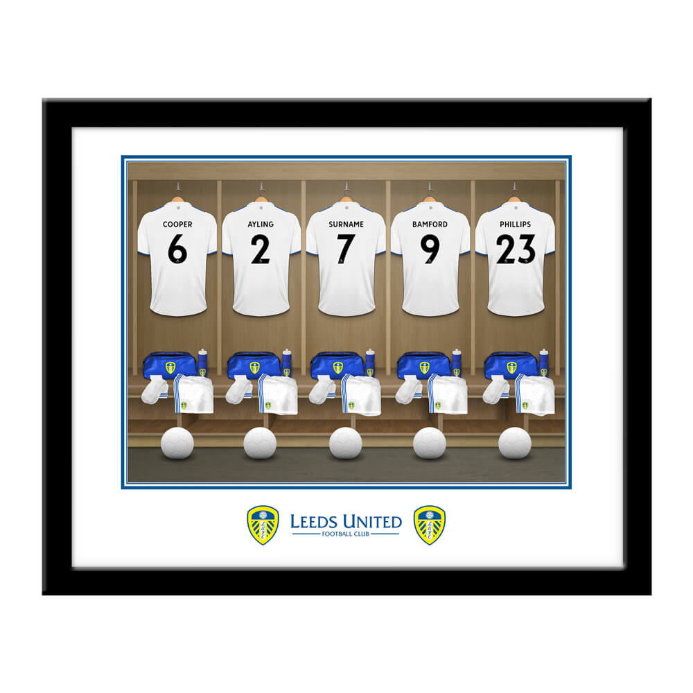 Leeds United FC Dressing Room Framed Print