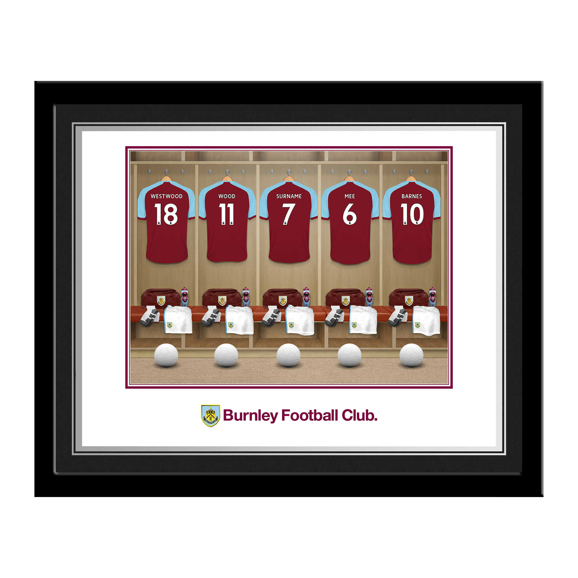Burnley FC Dressing Room Photo Frame