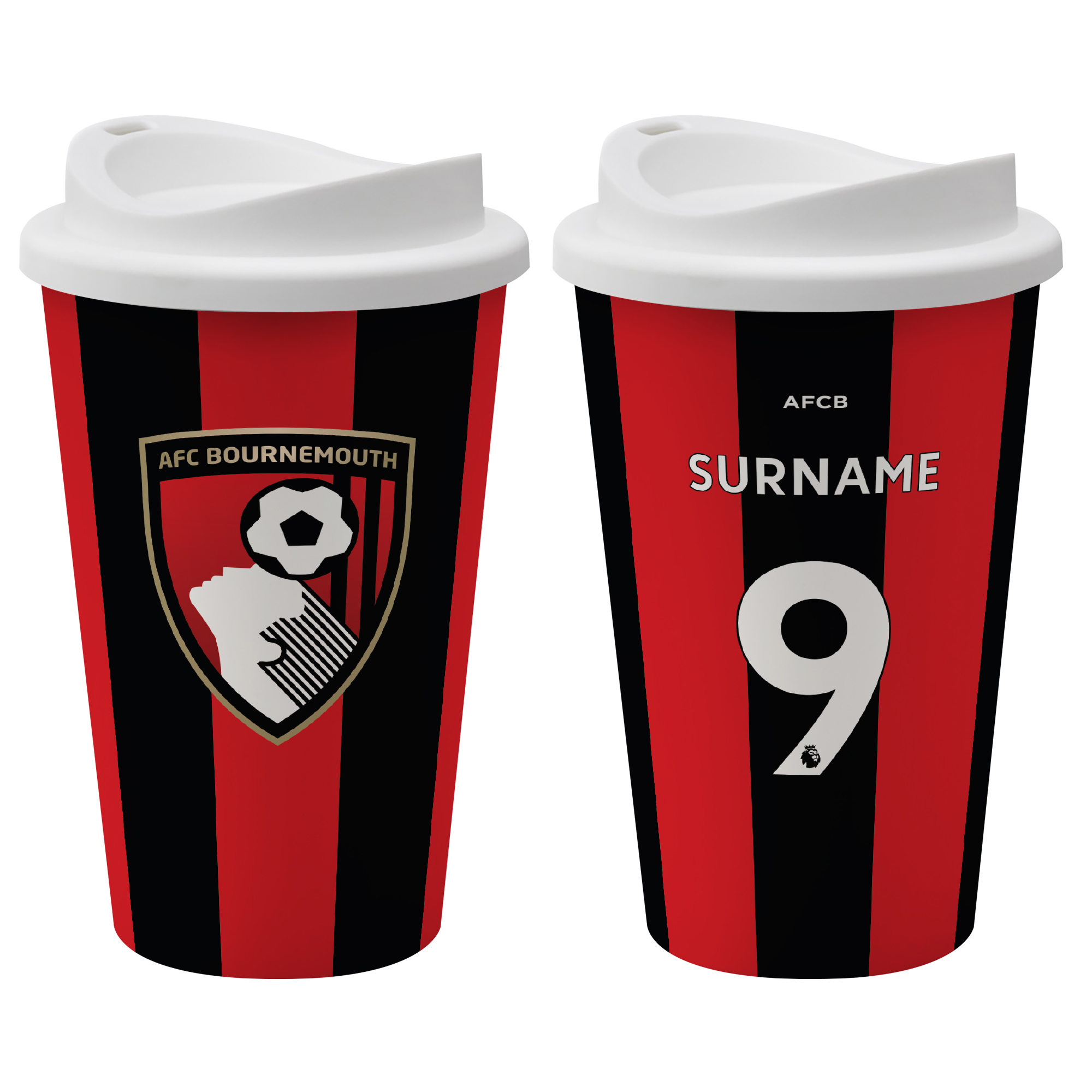 AFC Bournemouth Back of Shirt Reusable Cup