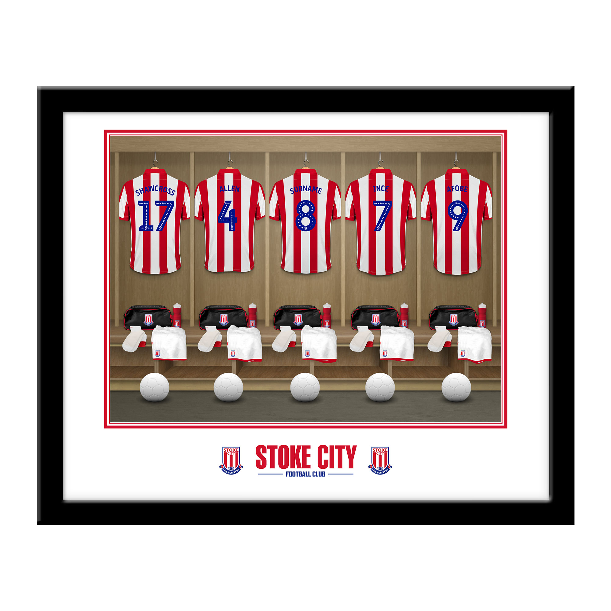 Stoke City FC Dressing Room Framed Print