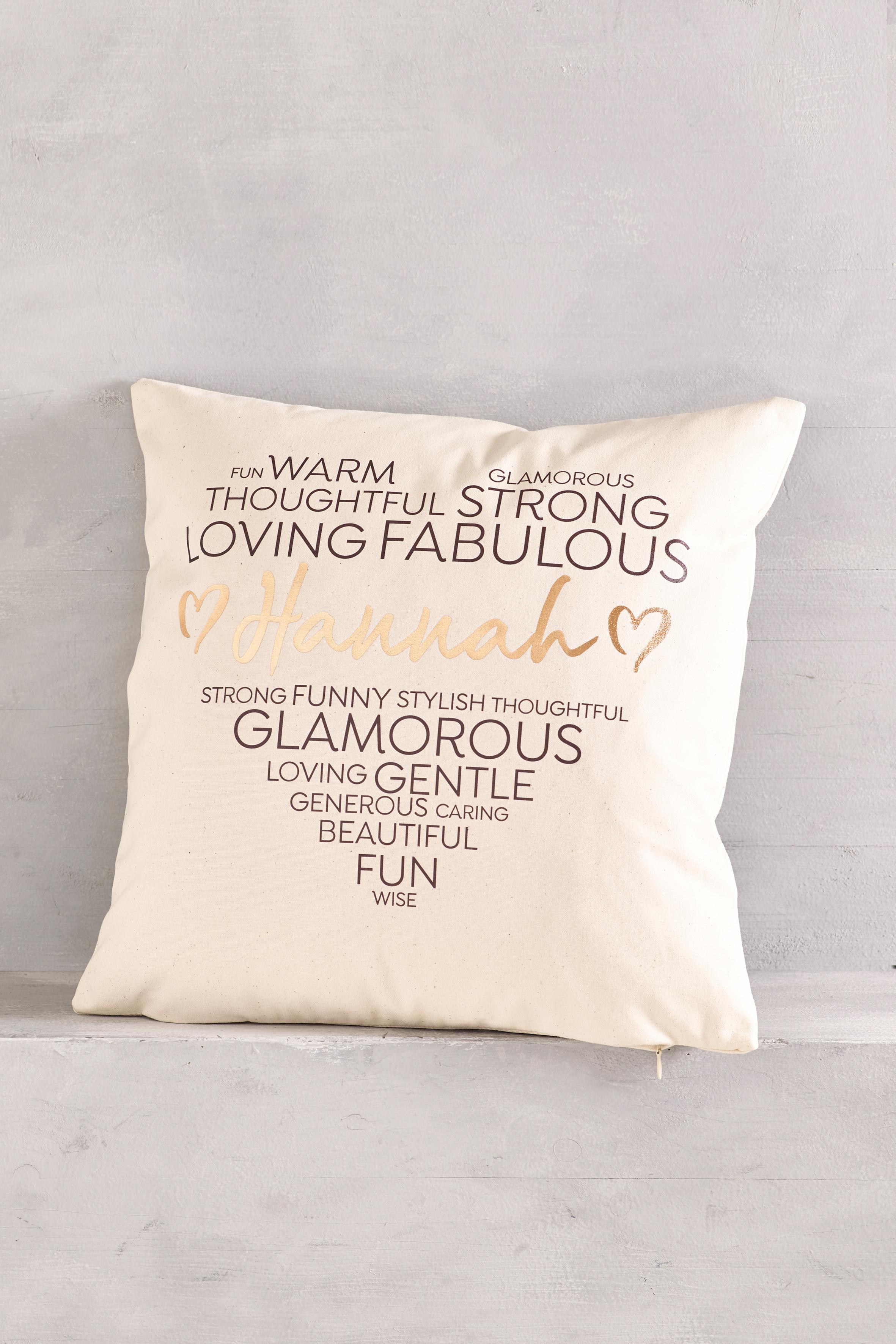Personalised Heart Cushion