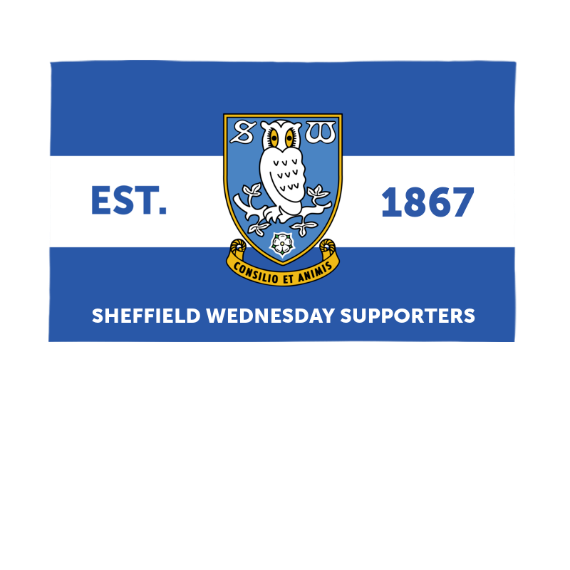 Sheffield Wednesday FC Supporters 5ft x 3ft Banner