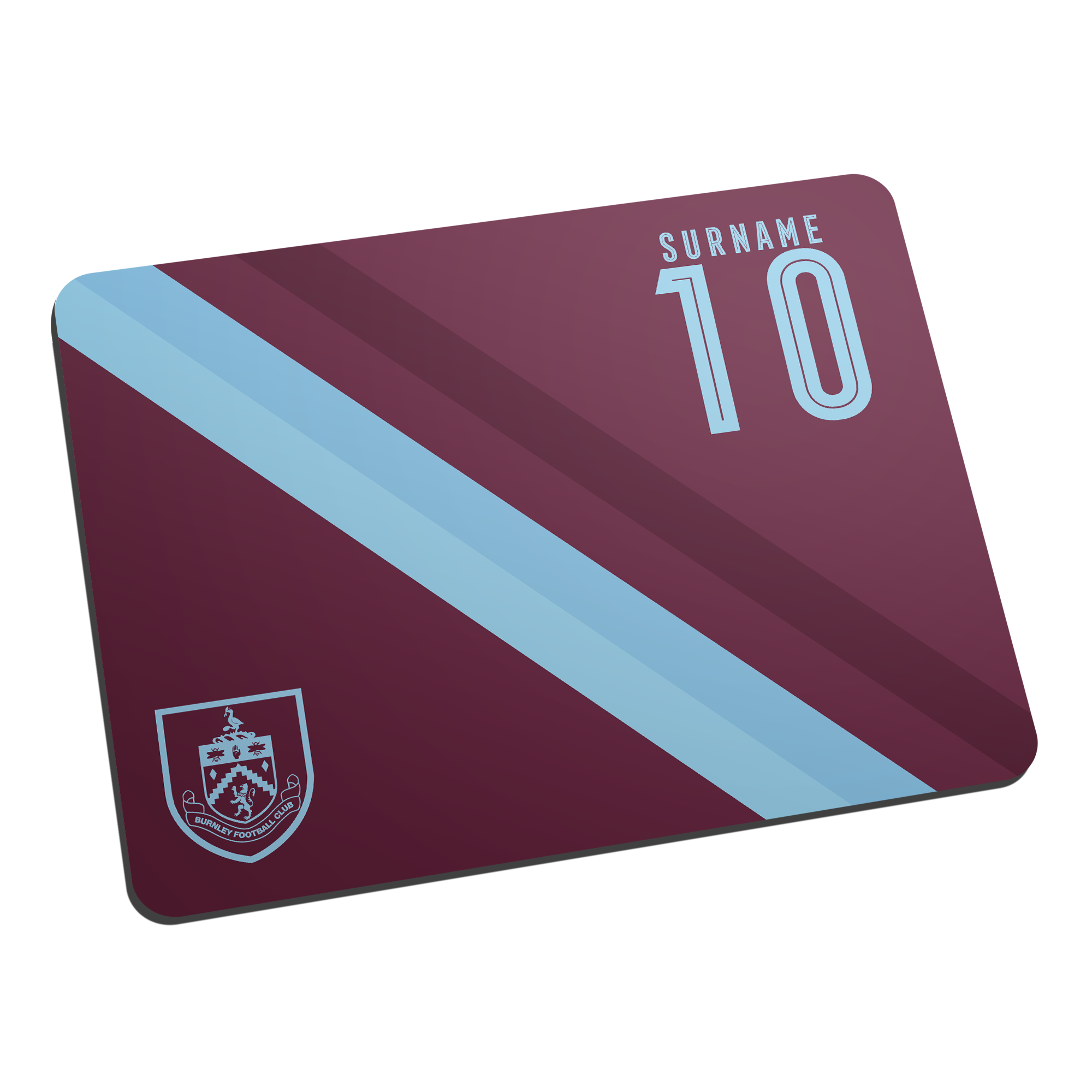 Burnley FC Stripe Mouse Mat