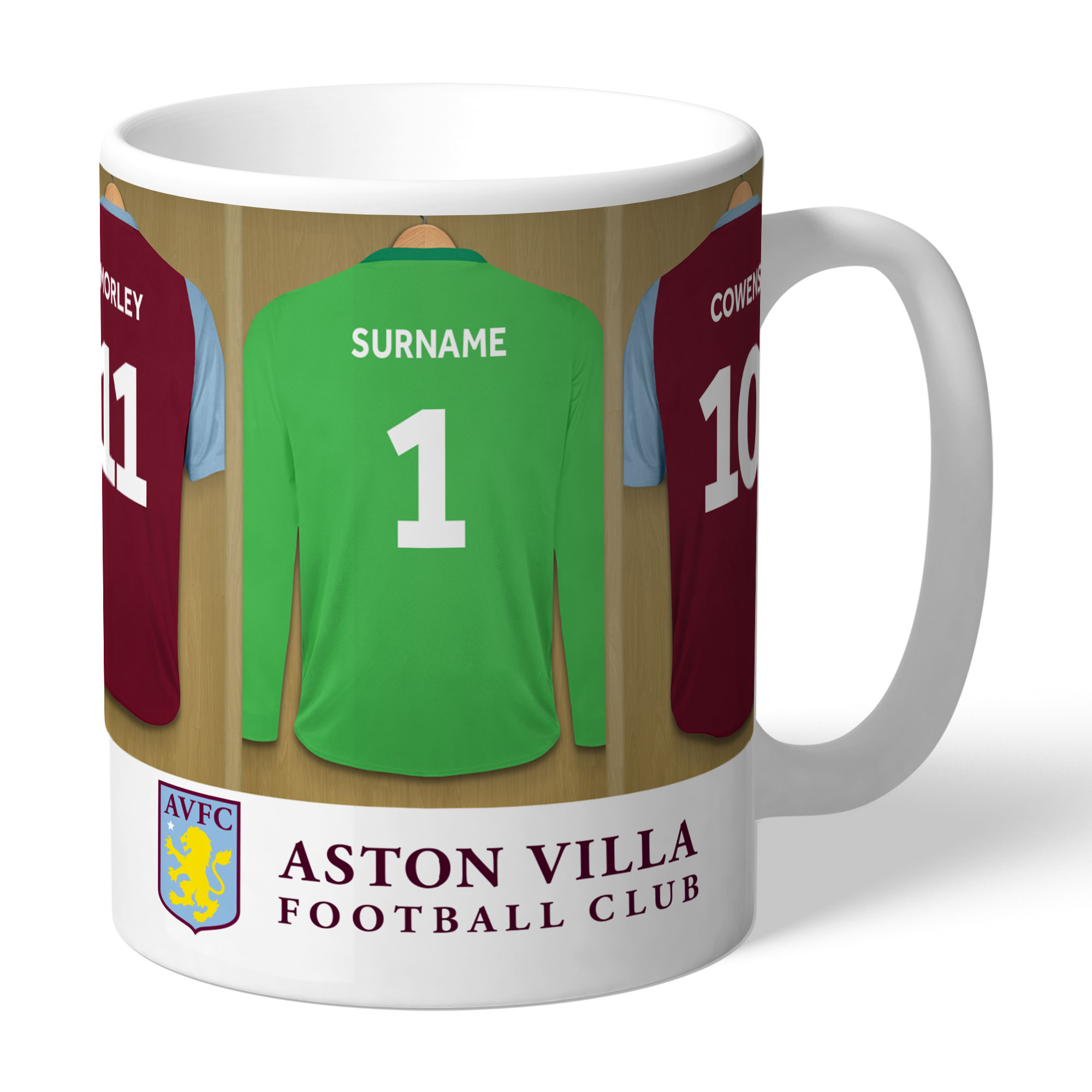 Aston Villa FC Legends Goalkeeper Dressing Room Mug