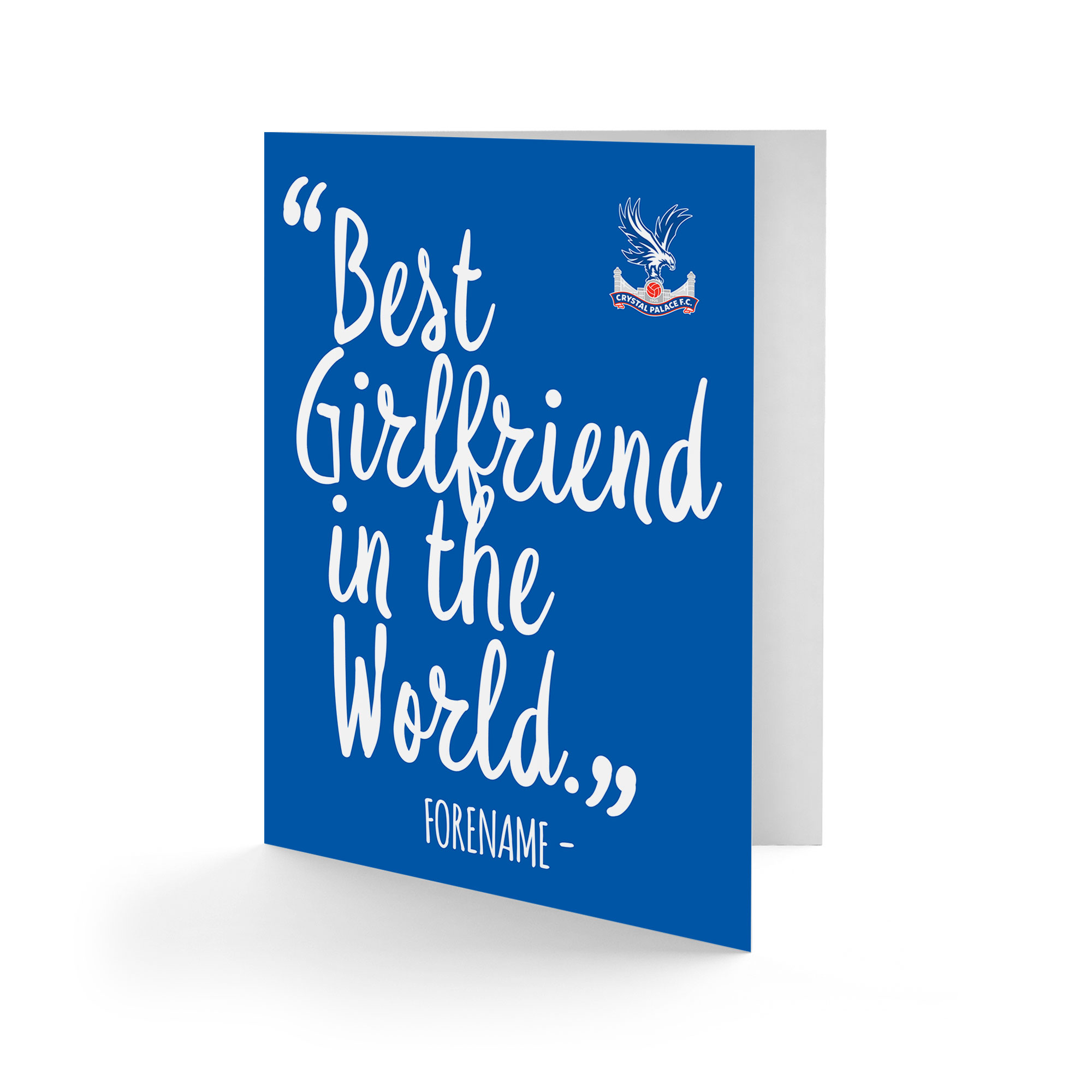 Crystal Palace FC Best Girfriend In The World Card