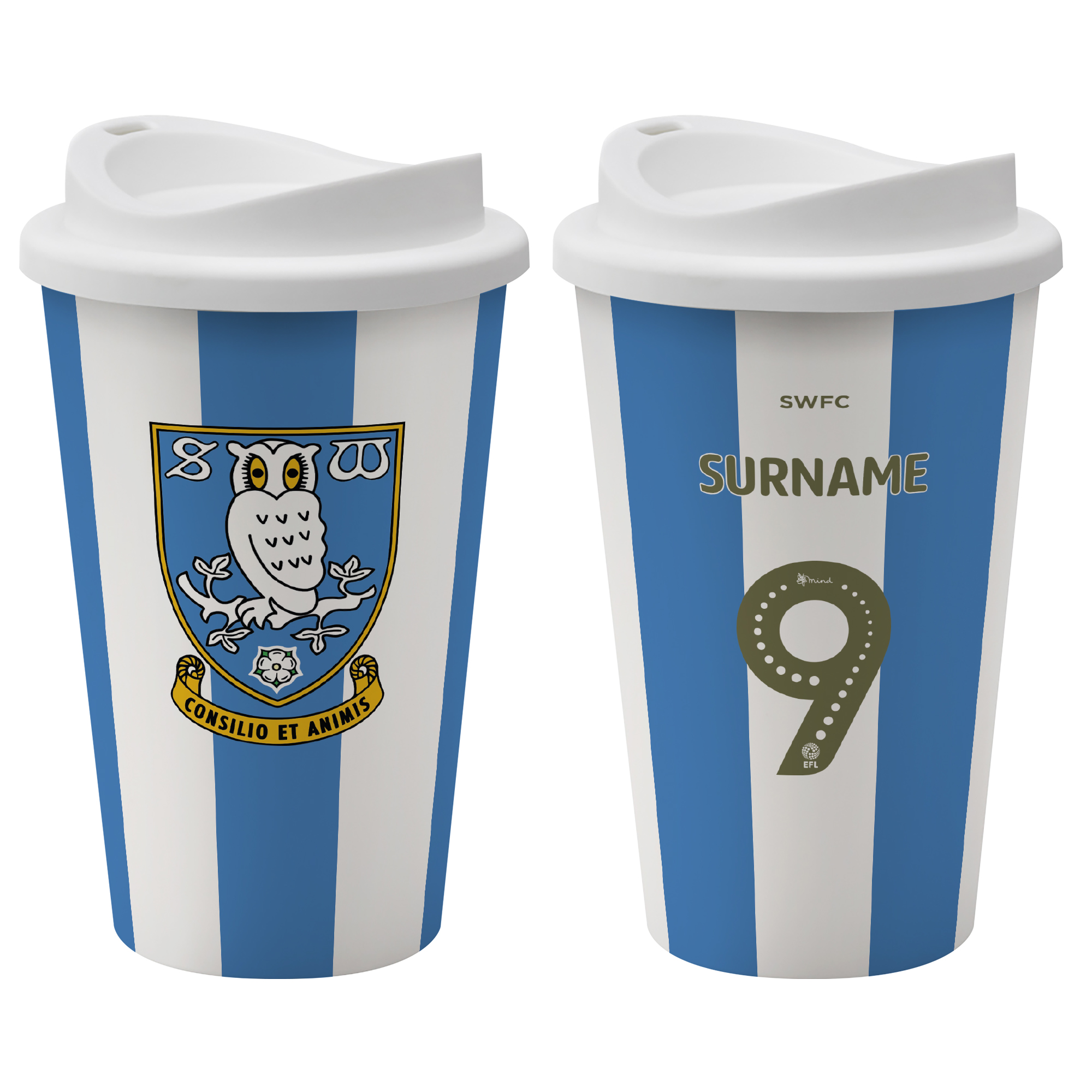 Sheffield Wednesday FC Back of Shirt Reusable Cup