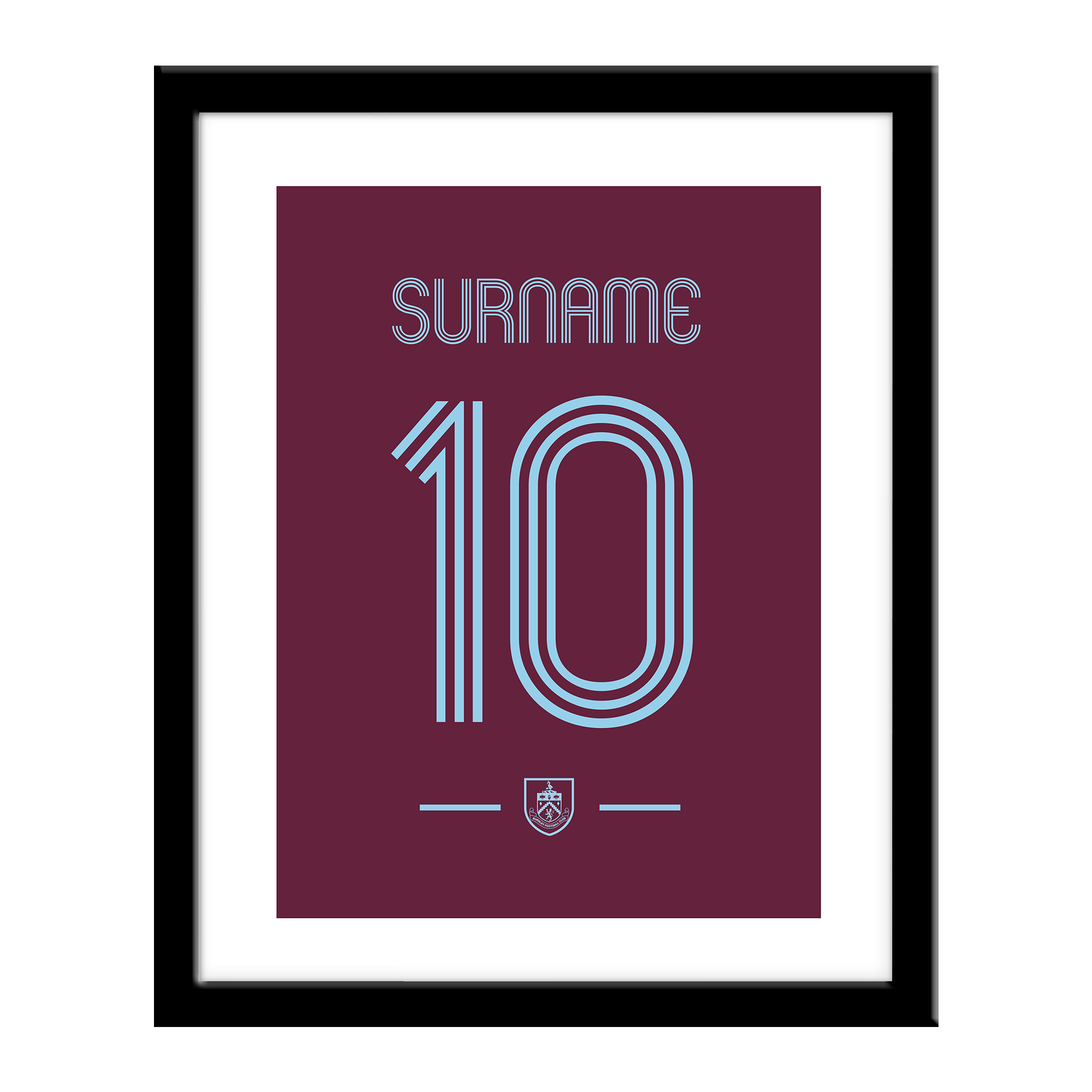 Burnley FC Retro Shirt Print