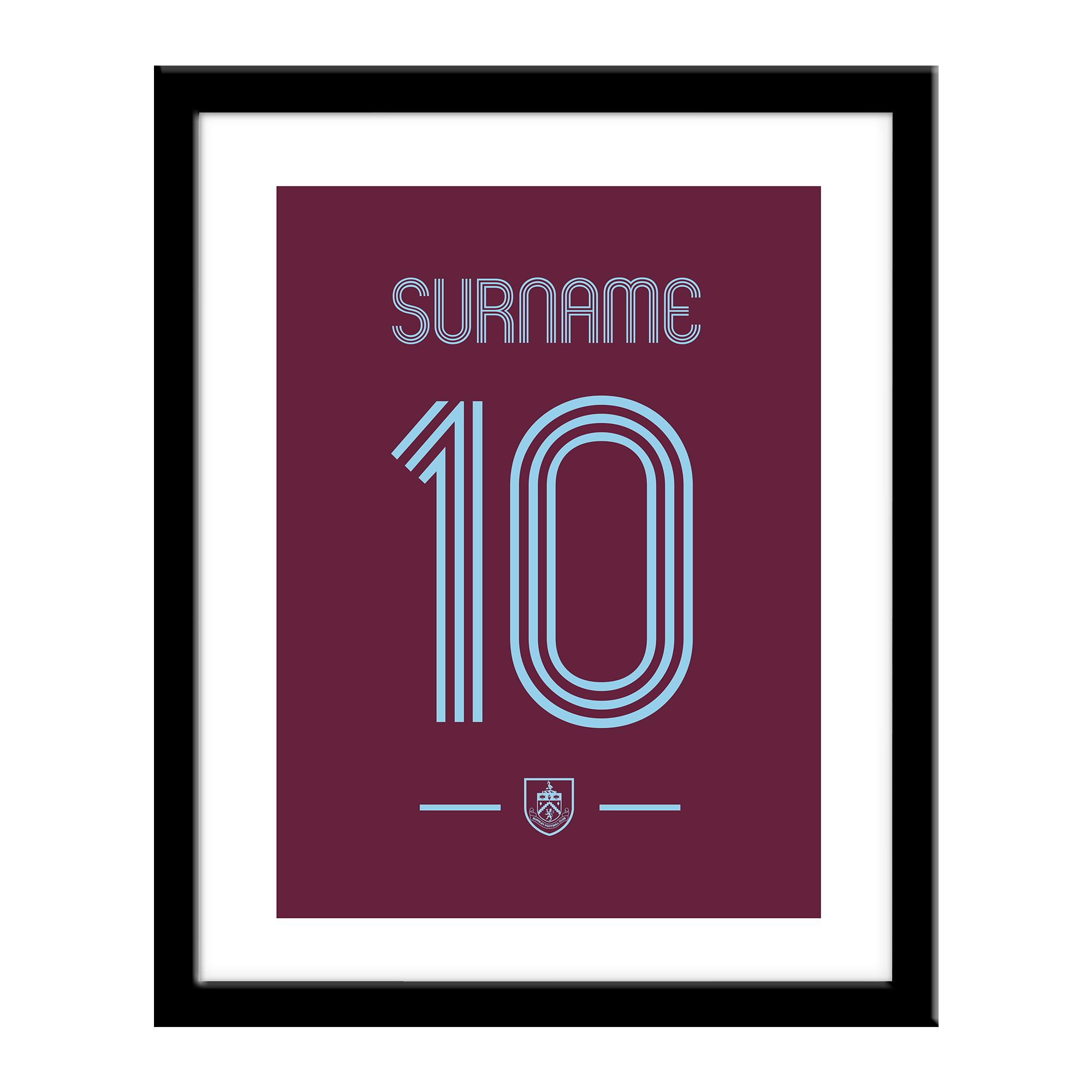 Burnley FC Retro Shirt Print