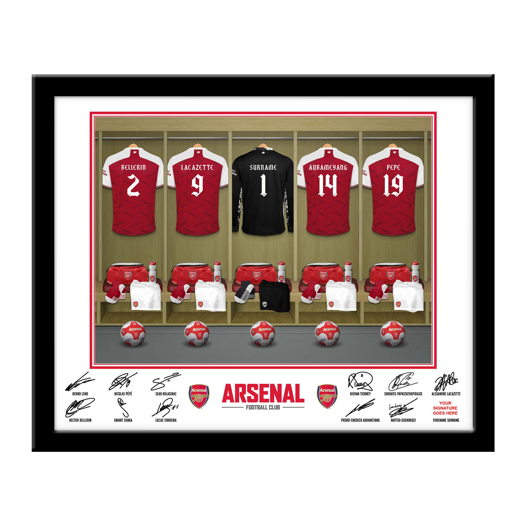AFC Goalkeeper Dressing Room Framed Print