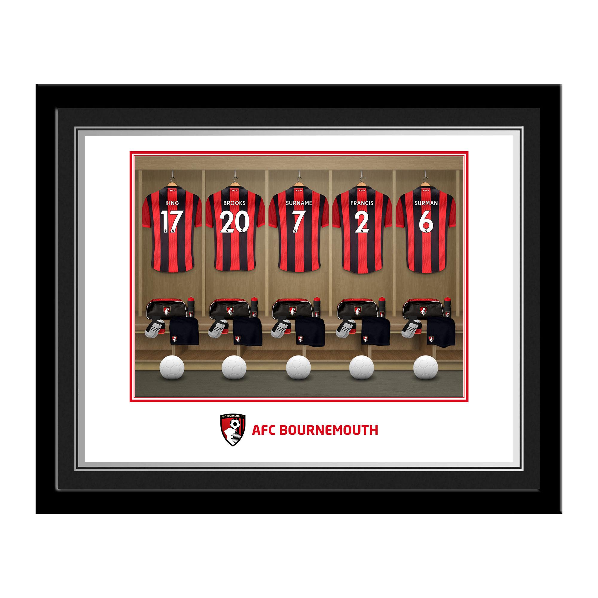 AFC Bournemouth Dressing Room Photo Framed