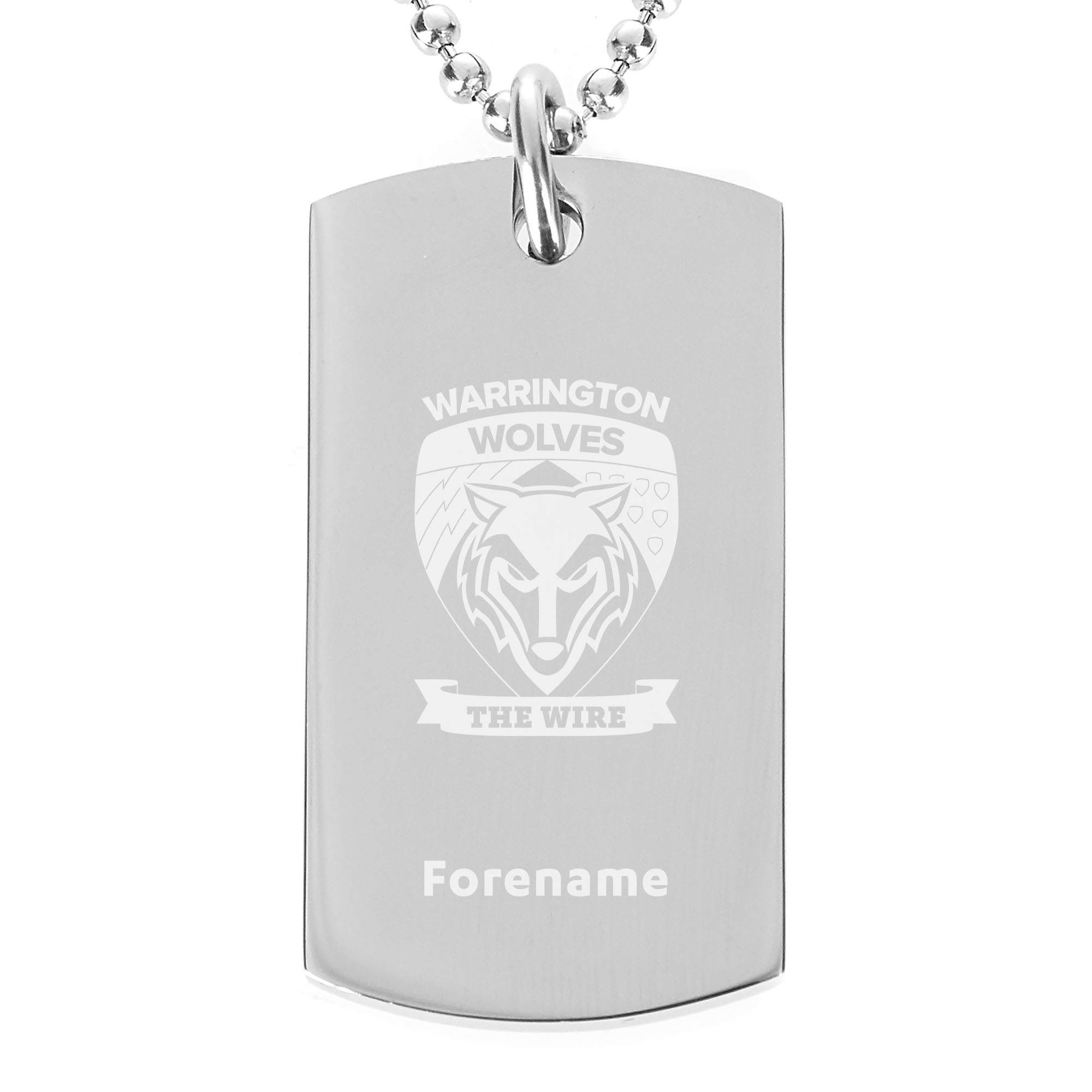 Warrington Wolves Crest Dog Tag Pendant