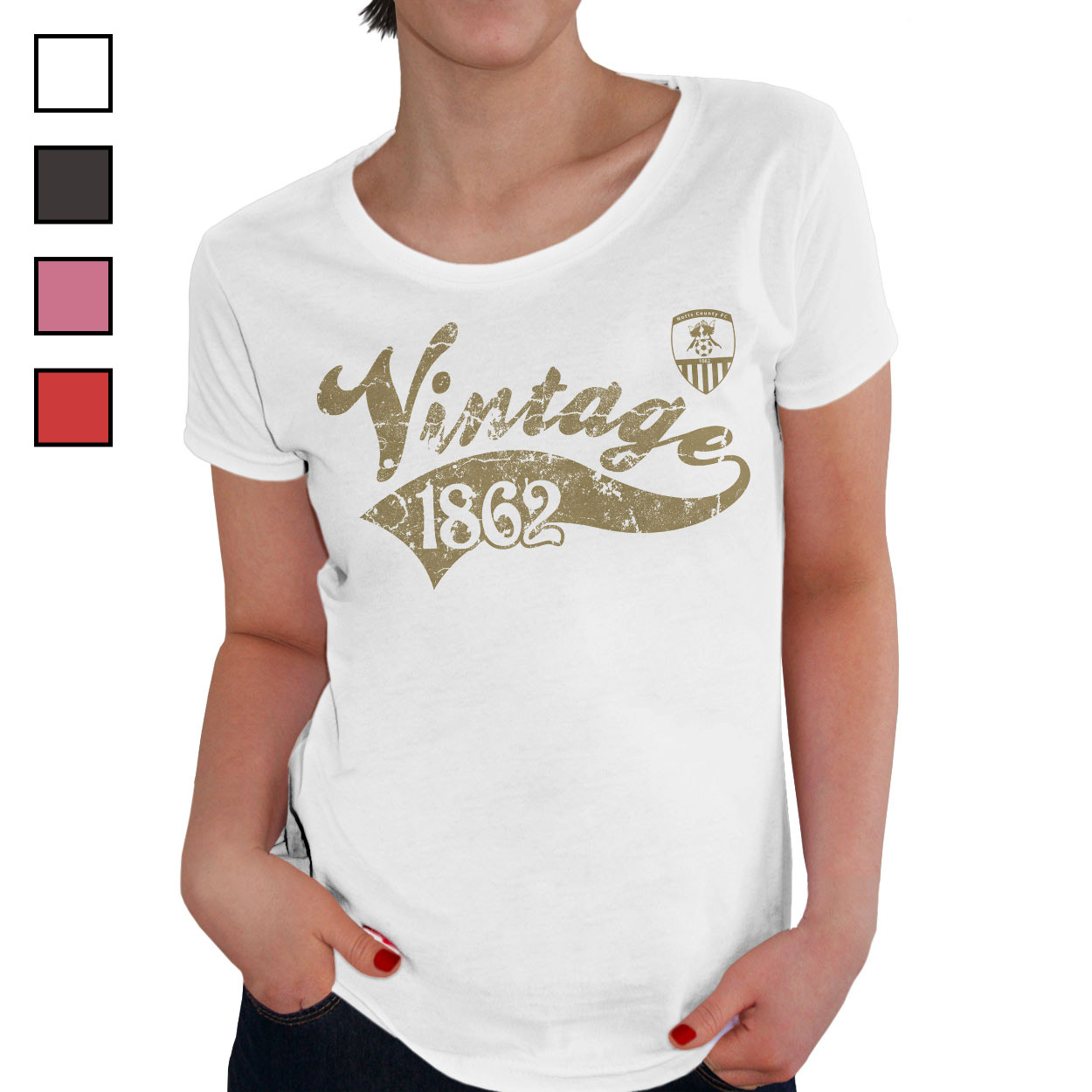 Notts County FC Ladies Vintage T-Shirt