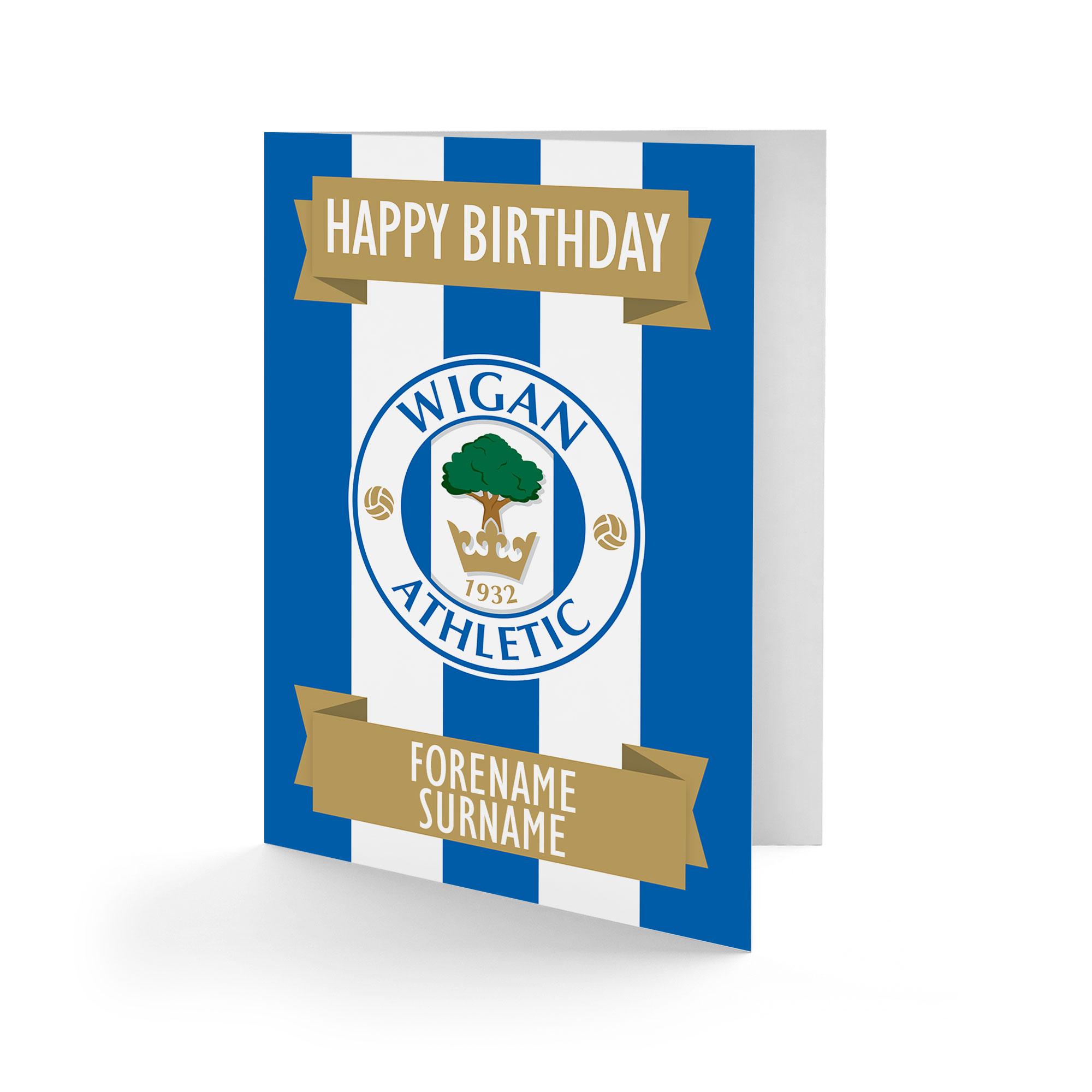 Wigan Athletic FC Crest Birthday Card