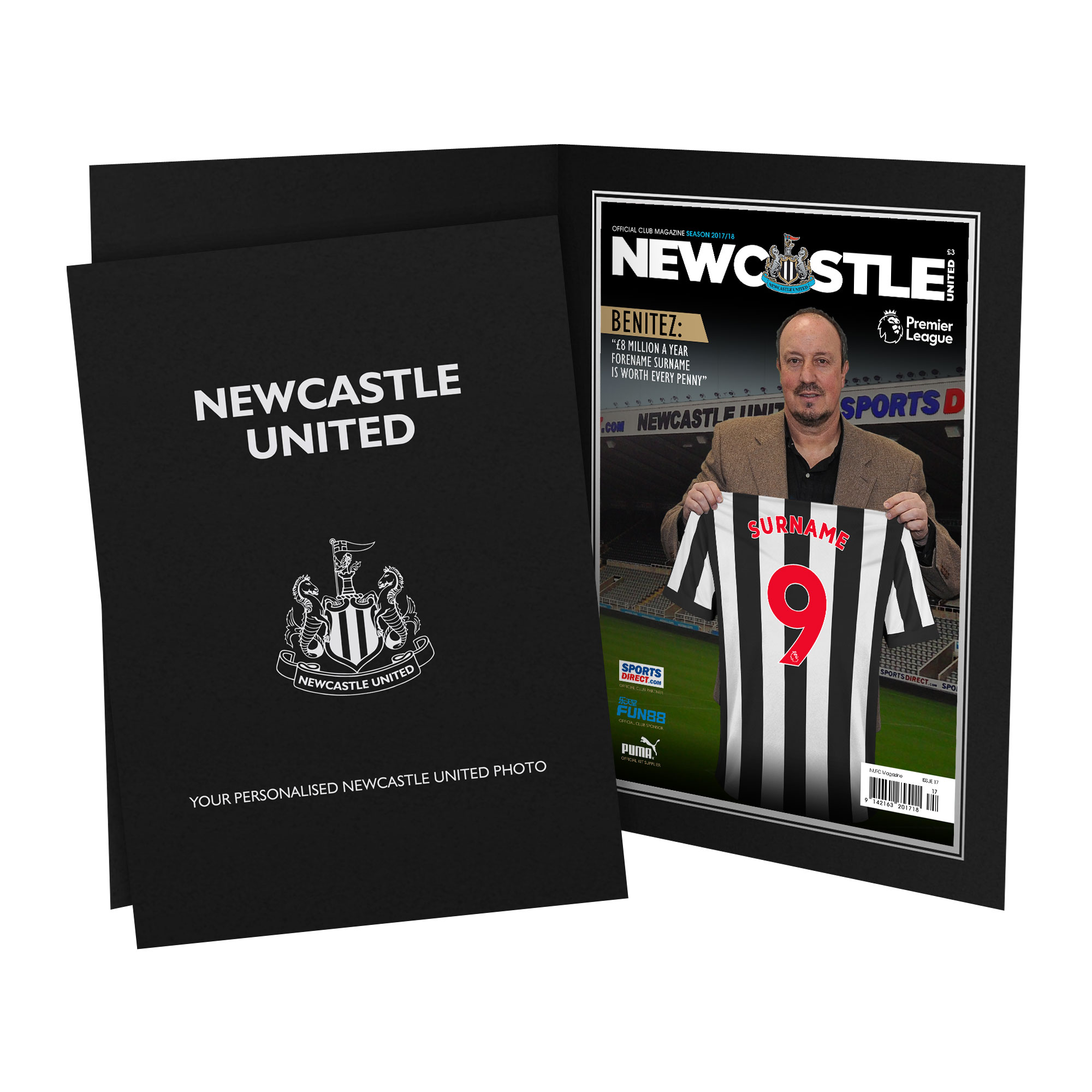 Newcastle United FC Magazine Front Cover Photo Folder