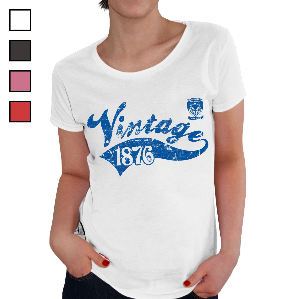 Warrington Wolves Ladies Vintage T-Shirt