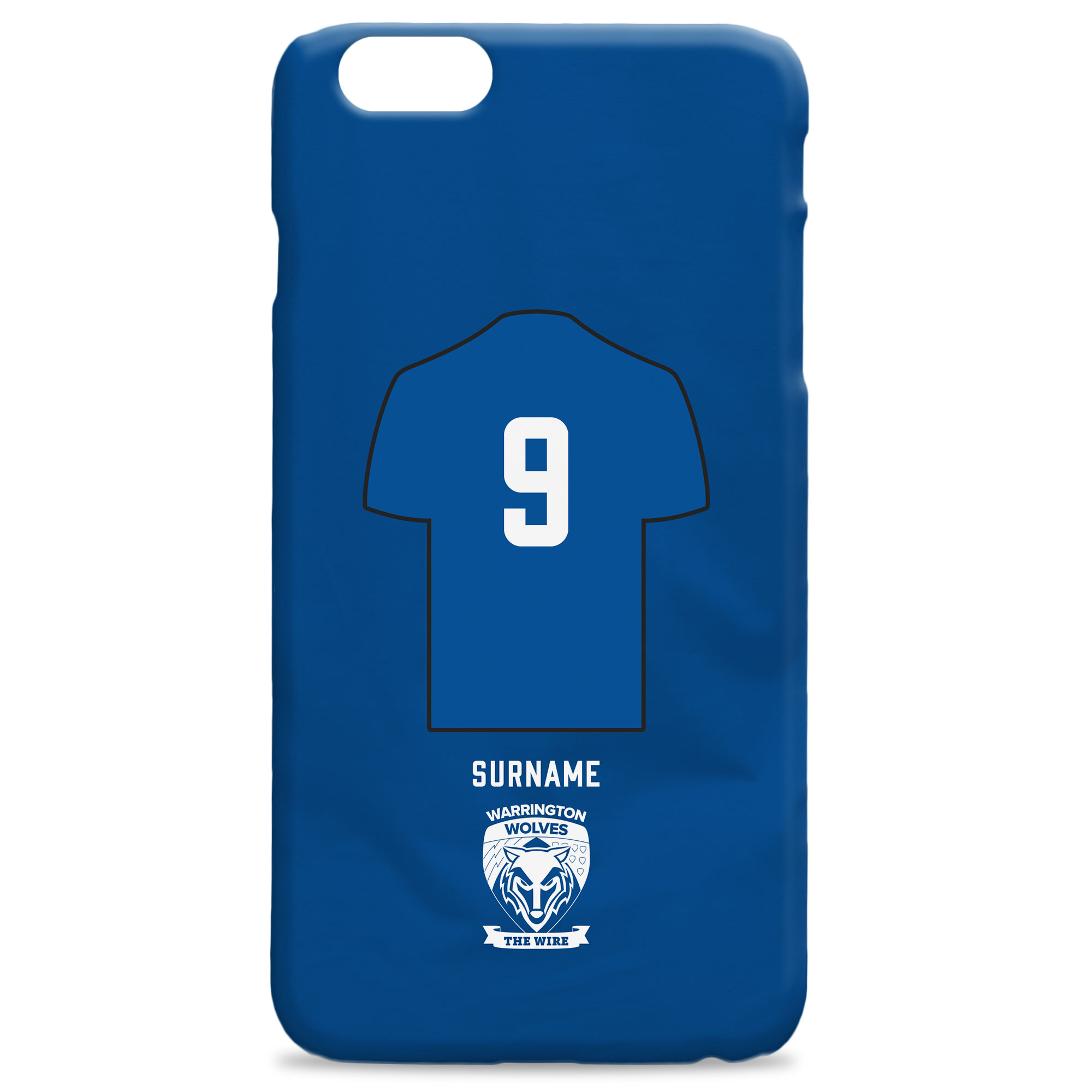 Warrington Wolves Shirt Hard Back Phone Case