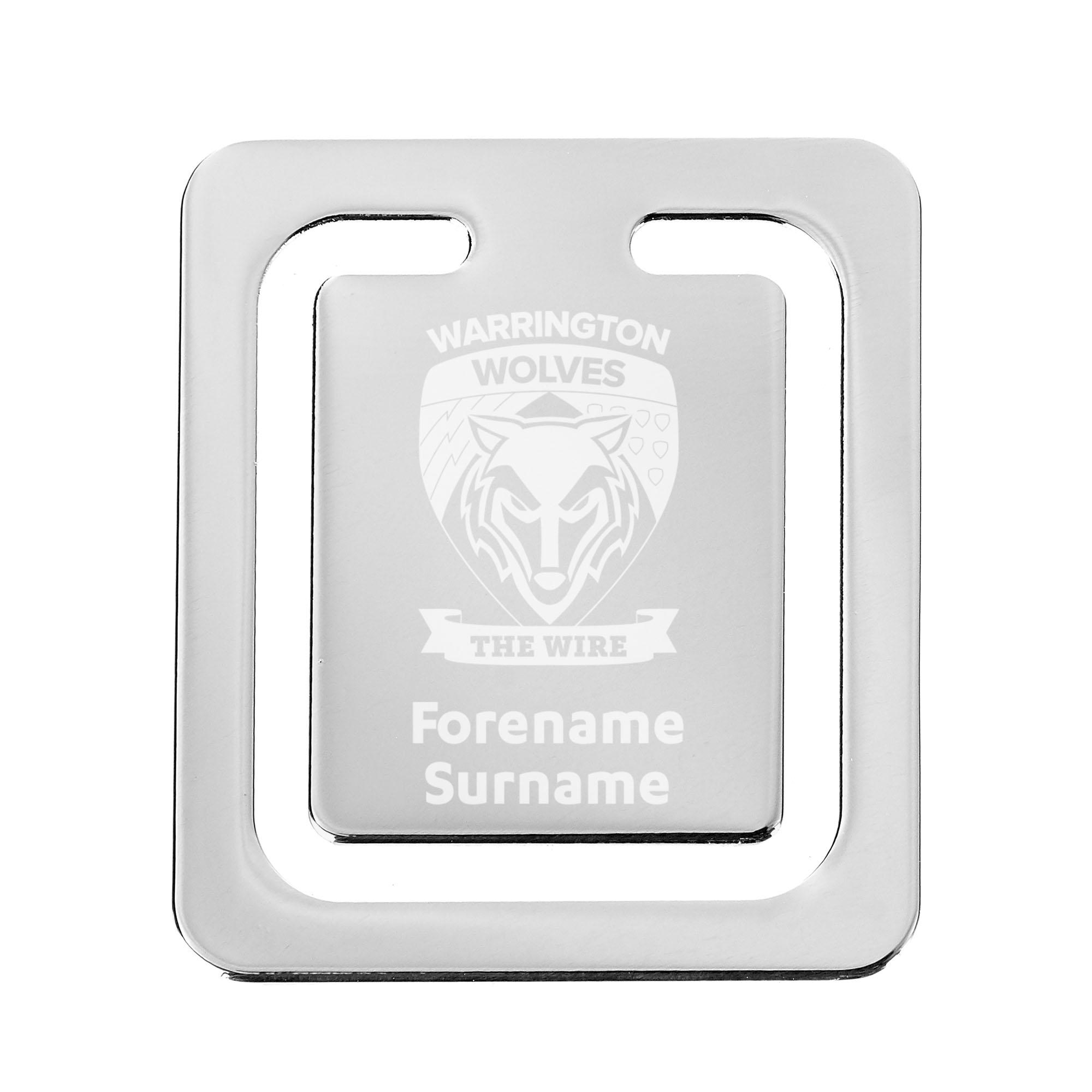 Warrington Wolves Crest Bookmark