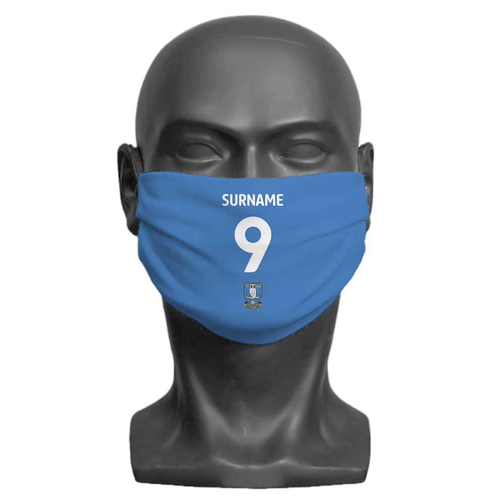 Sheffield Wednesday FC Back of Shirt Adult Face Mask (Large)