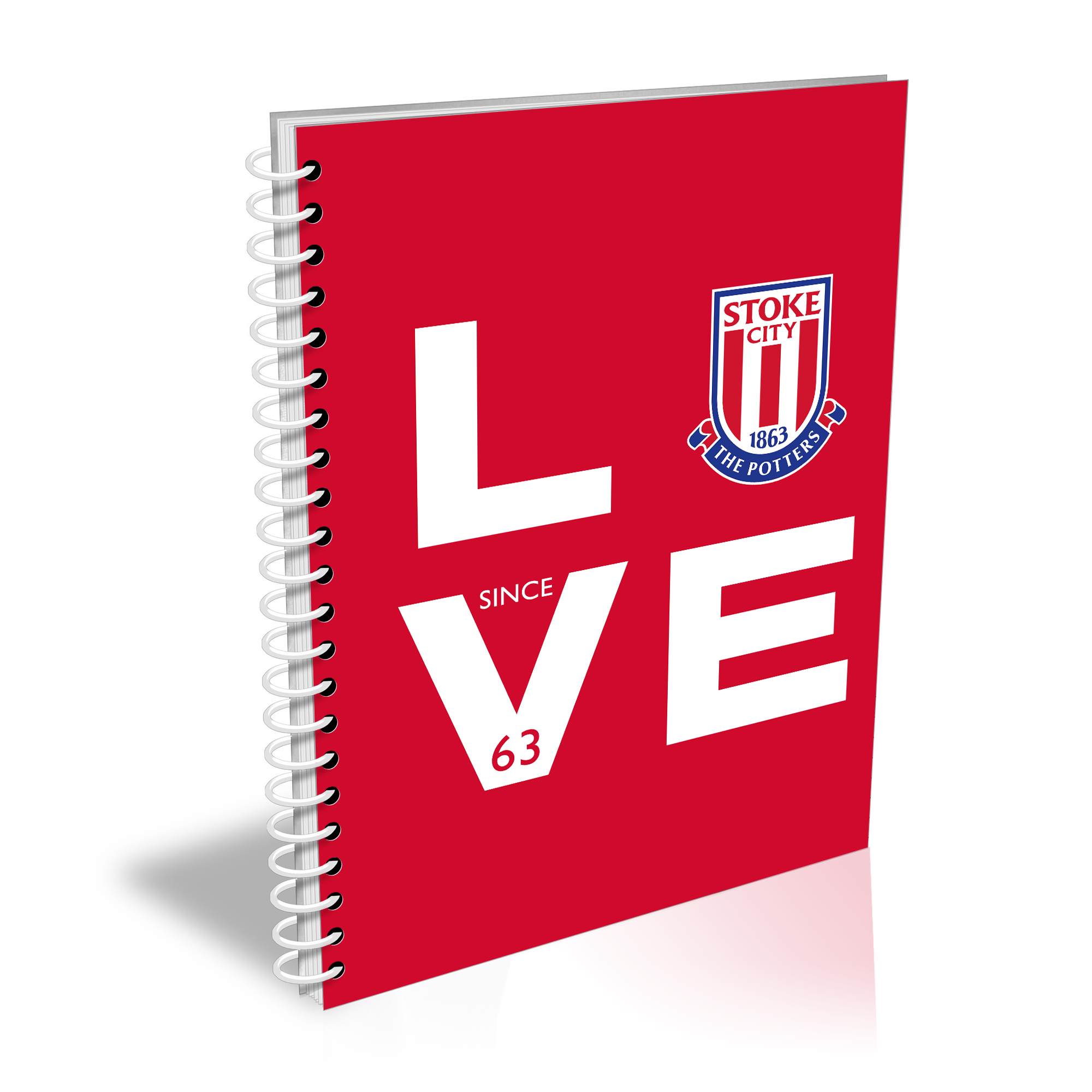 Stoke City FC Love Notebook