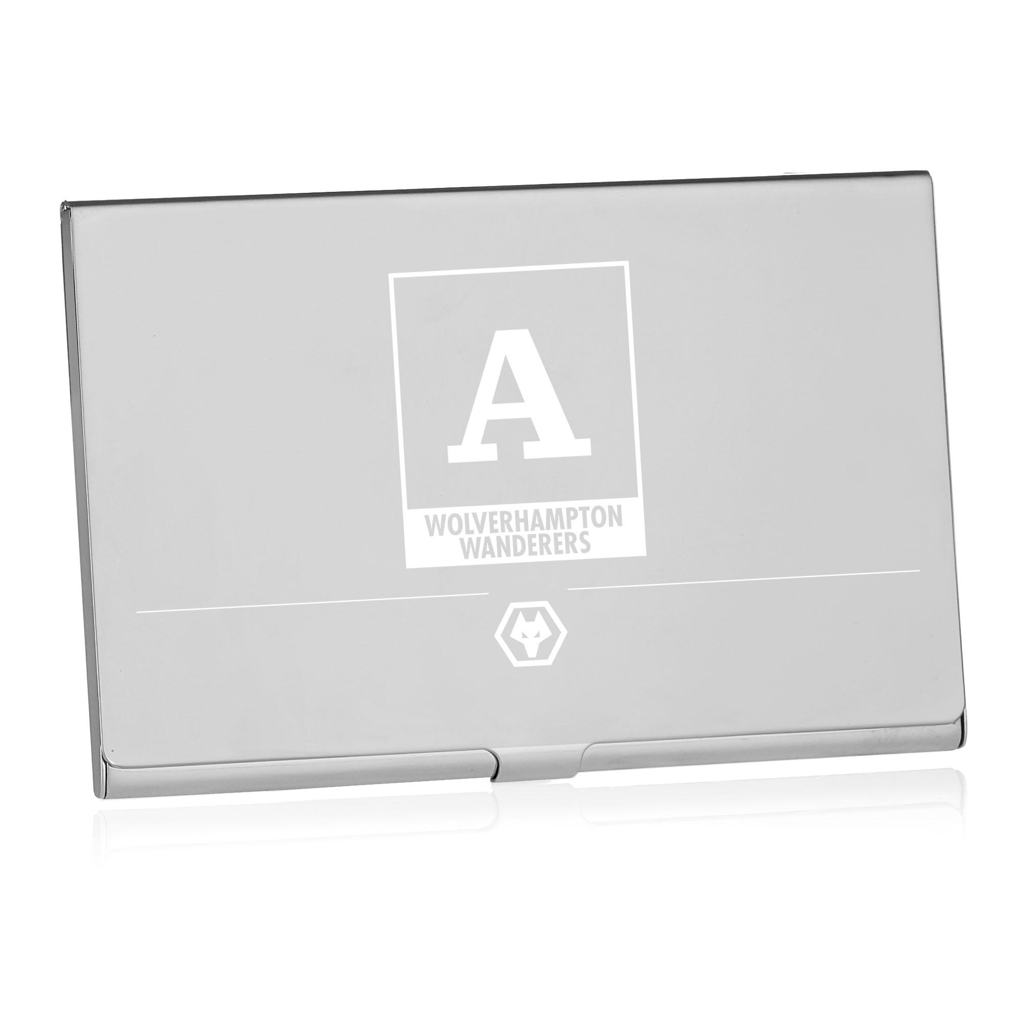 Wolves Monogram Business Card Holder
