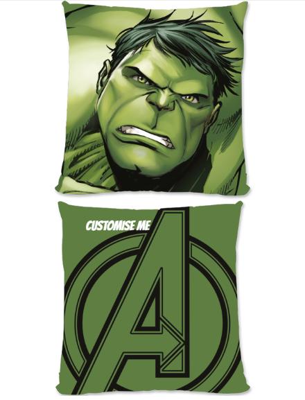 Marvel Avengers Assemble The Hulk Large Fiber Cushion