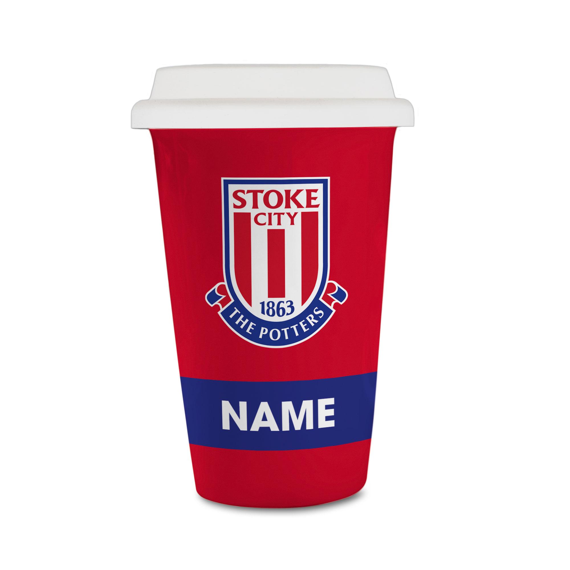 Stoke City FC Eat Sleep Drink Reusable Cup