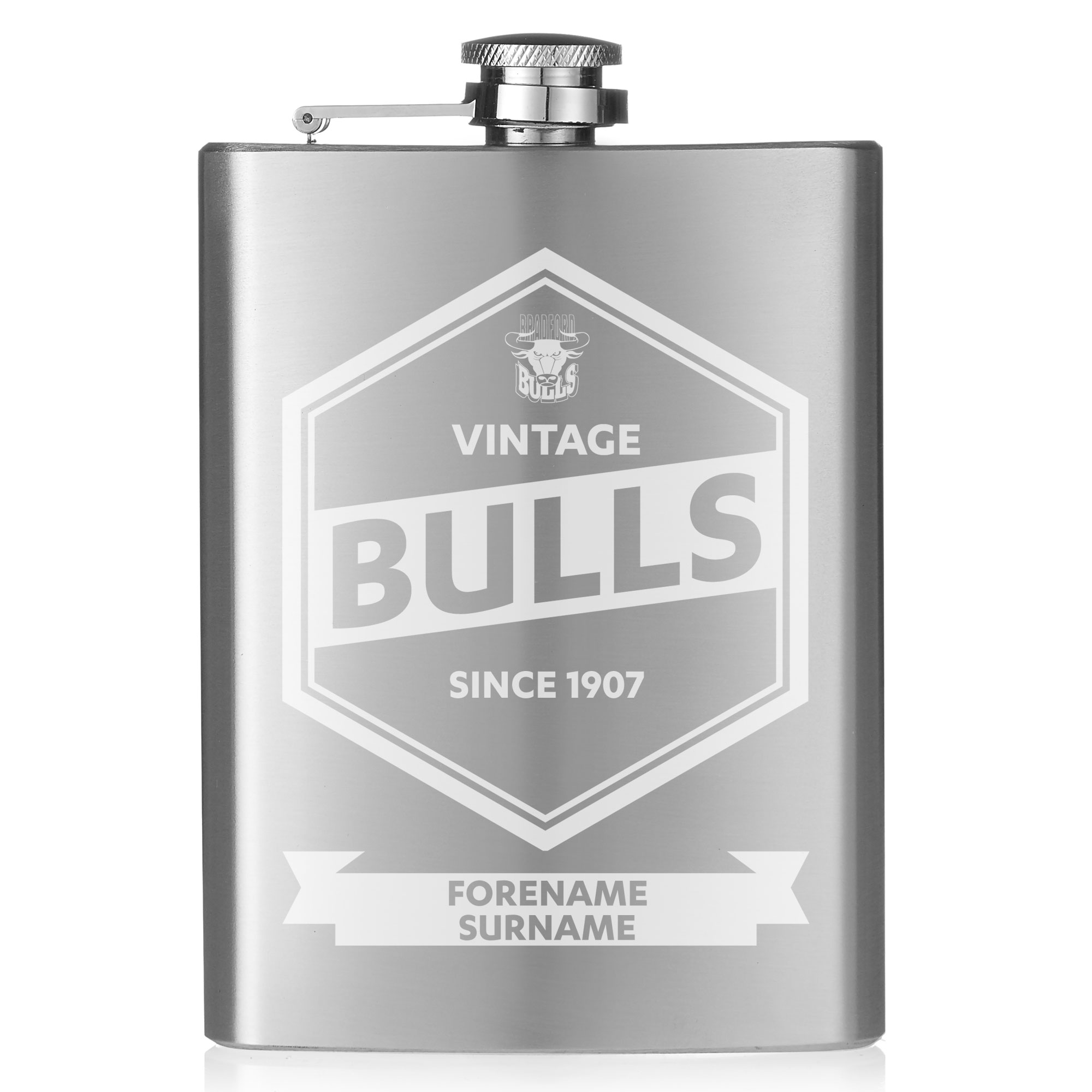 Bradford Bulls Vintage Hip Flask