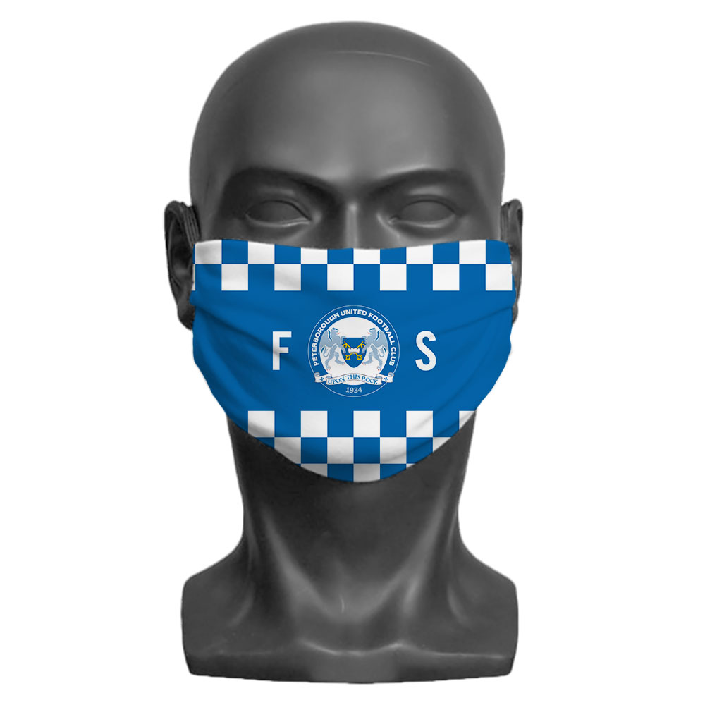 Peterborough United FC Initials Adult Face Mask (Large)