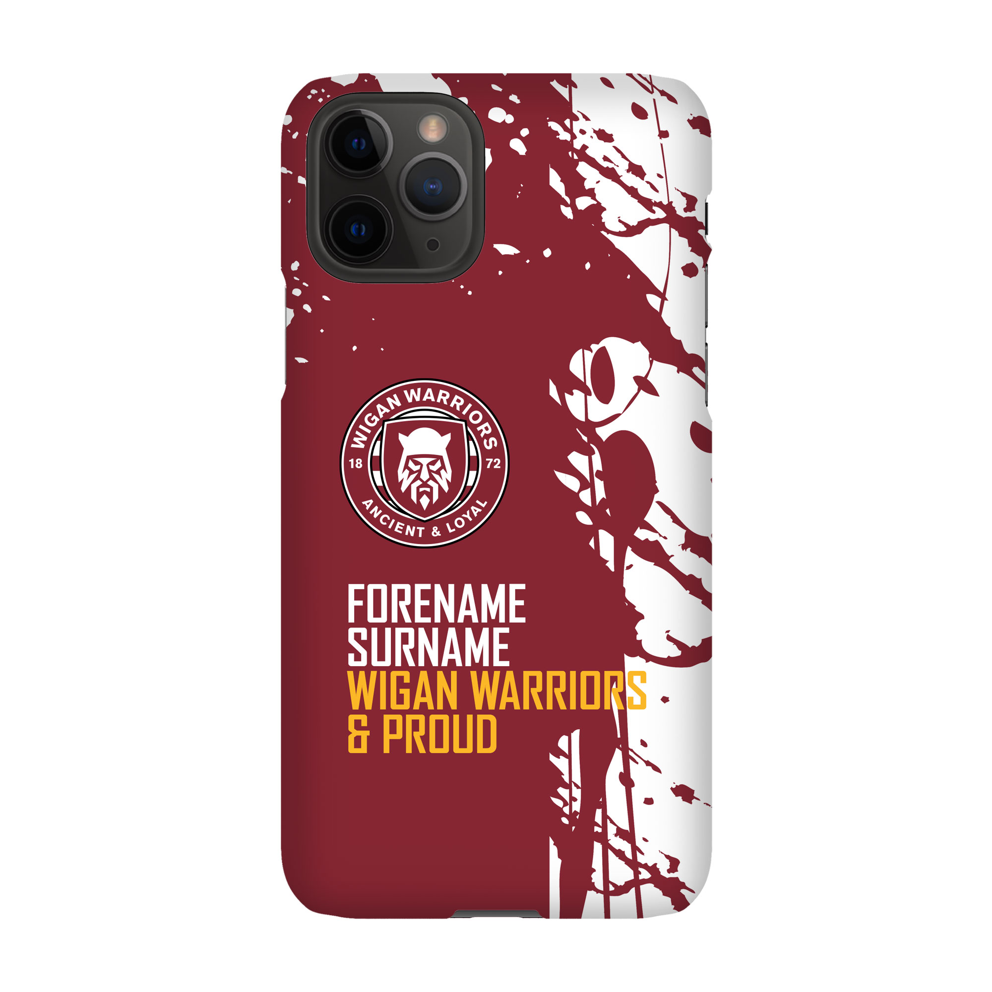 Wigan Warriors Proud Hard Back Phone Case