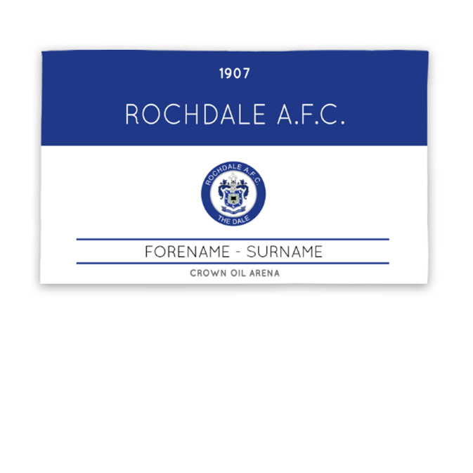 Rochdale AFC Minimal Ticket 5ft x 3ft Banner