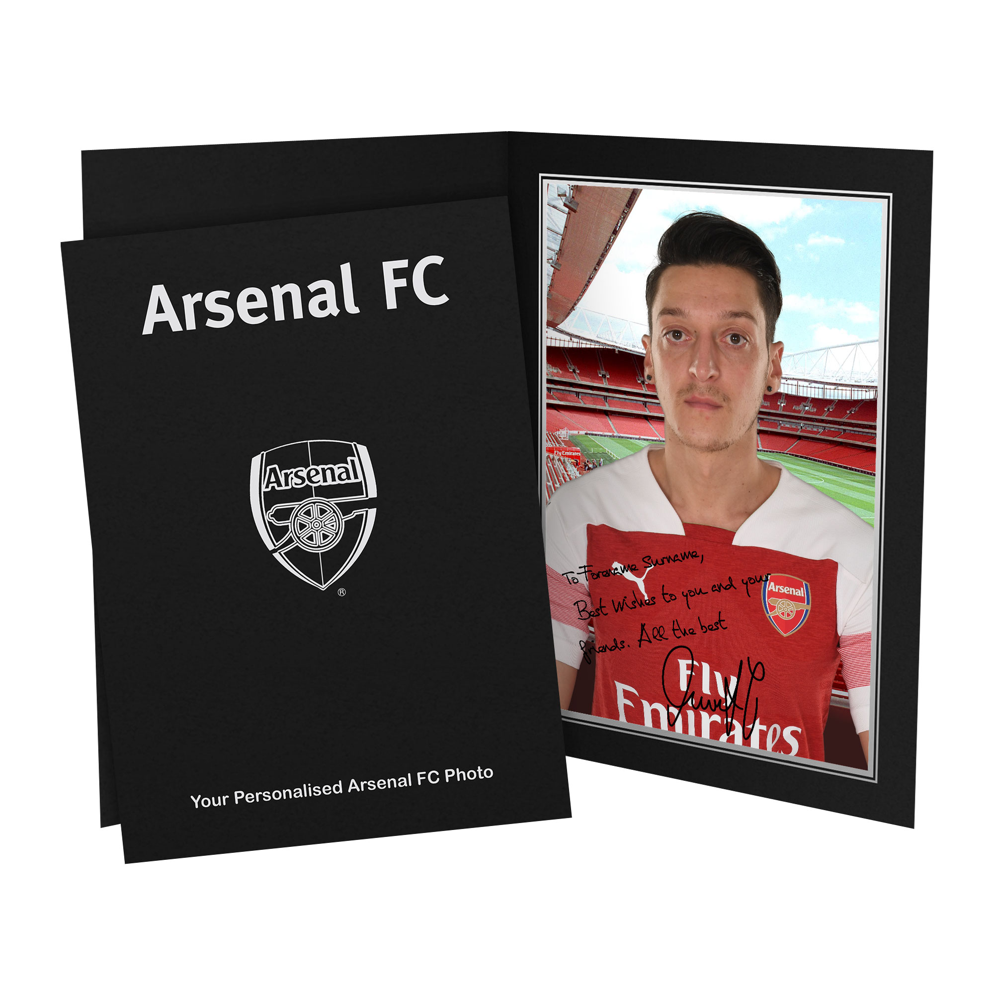 Arsenal FC Ozil Autograph Photo Folder