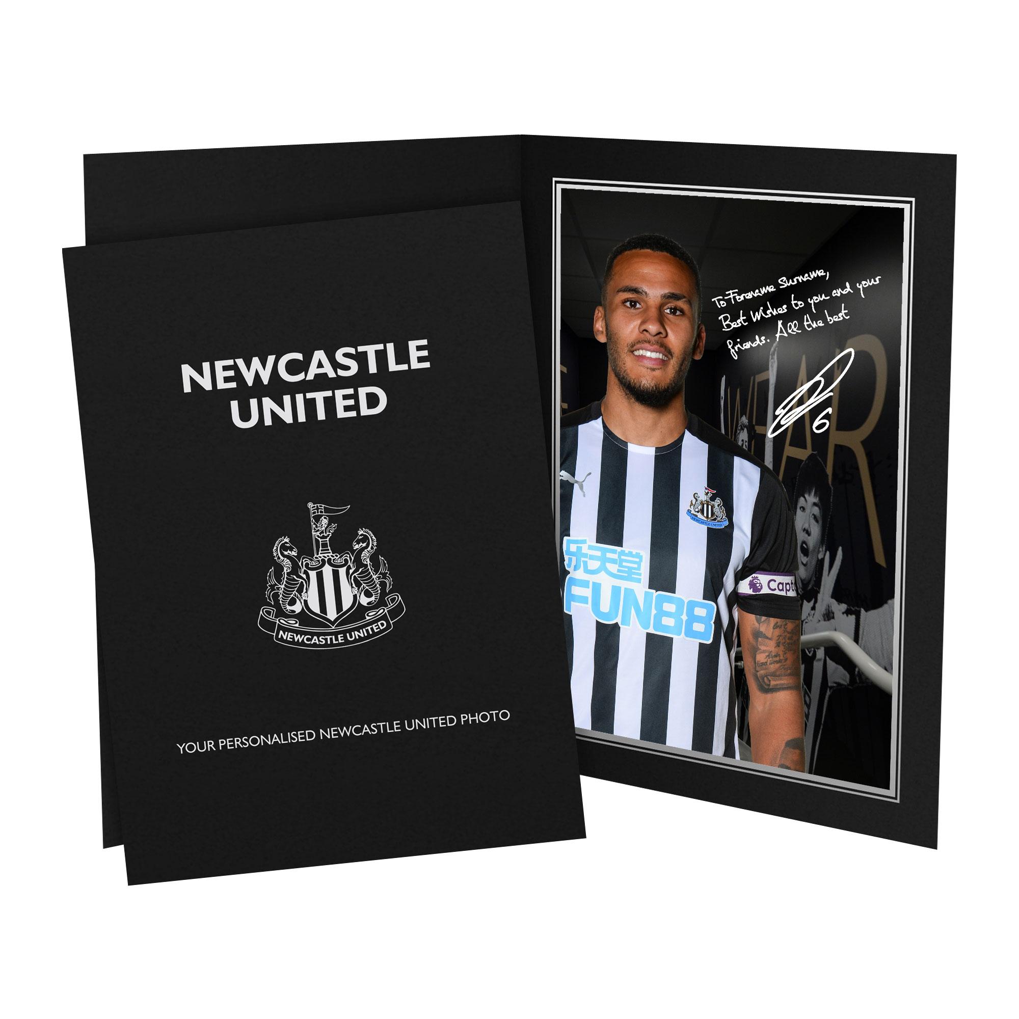 Newcastle United FC Lascelles Autograph Photo Folder
