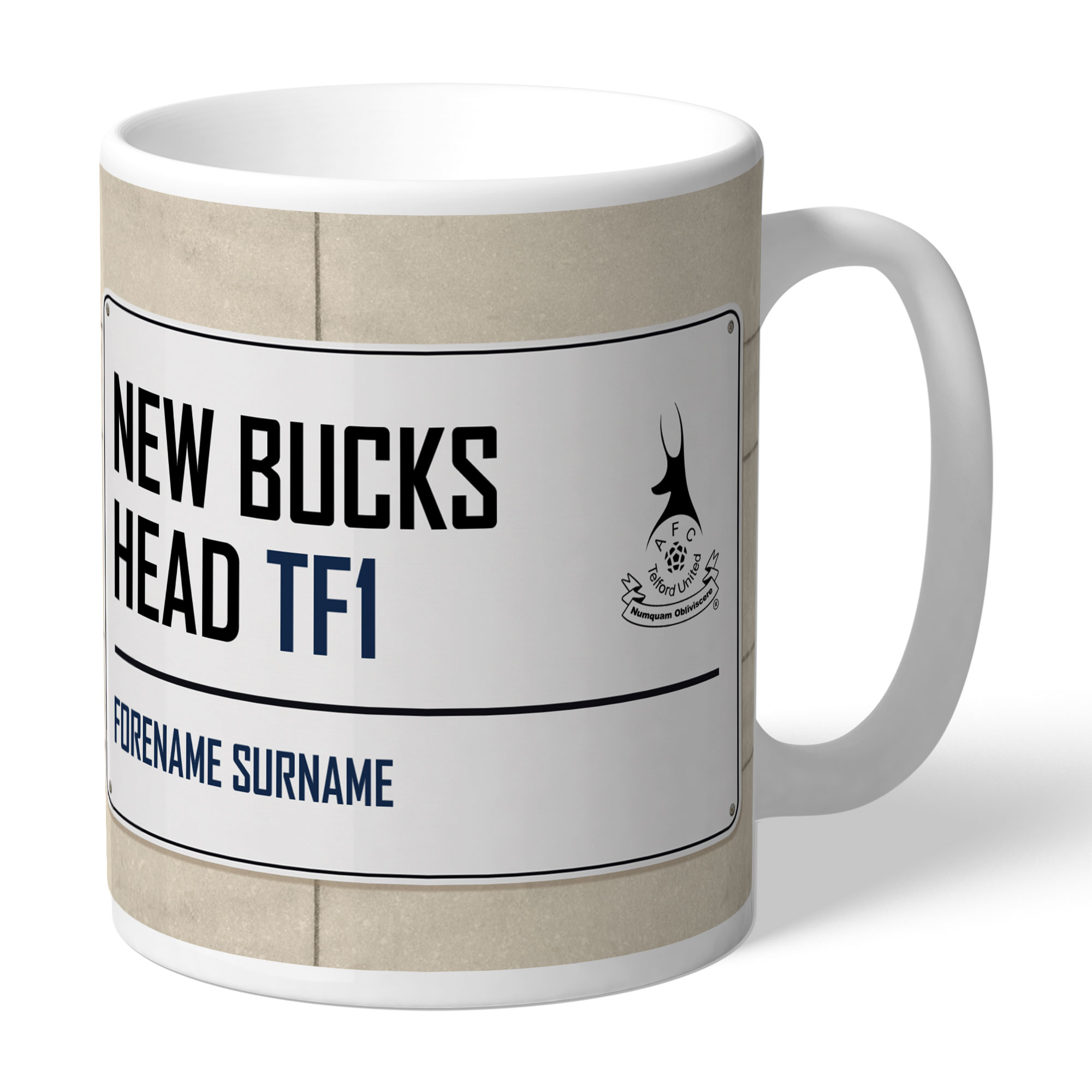 AFC Telford United Street Sign Mug
