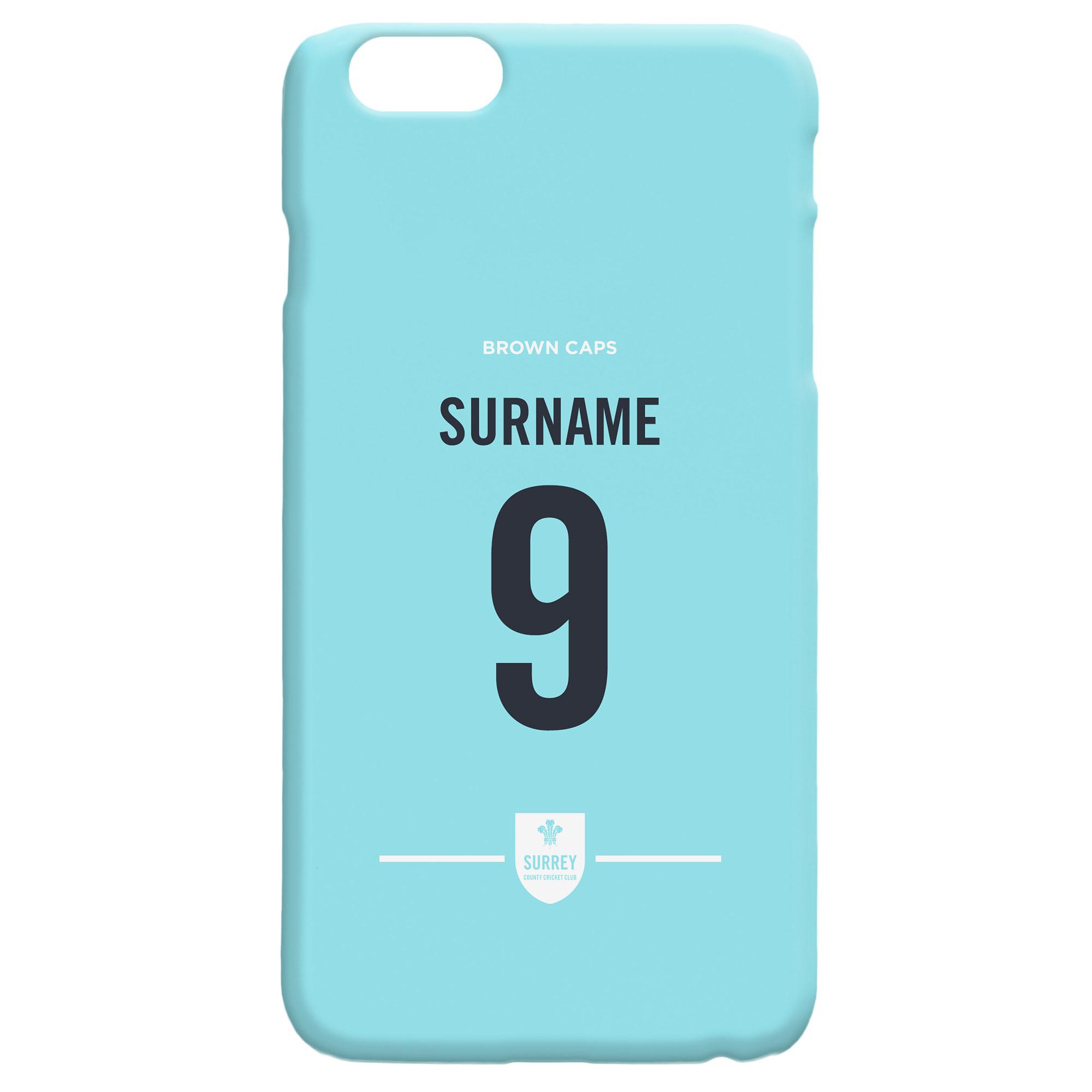 Surrey CCC Back of Shirt Hard Back Phone Case