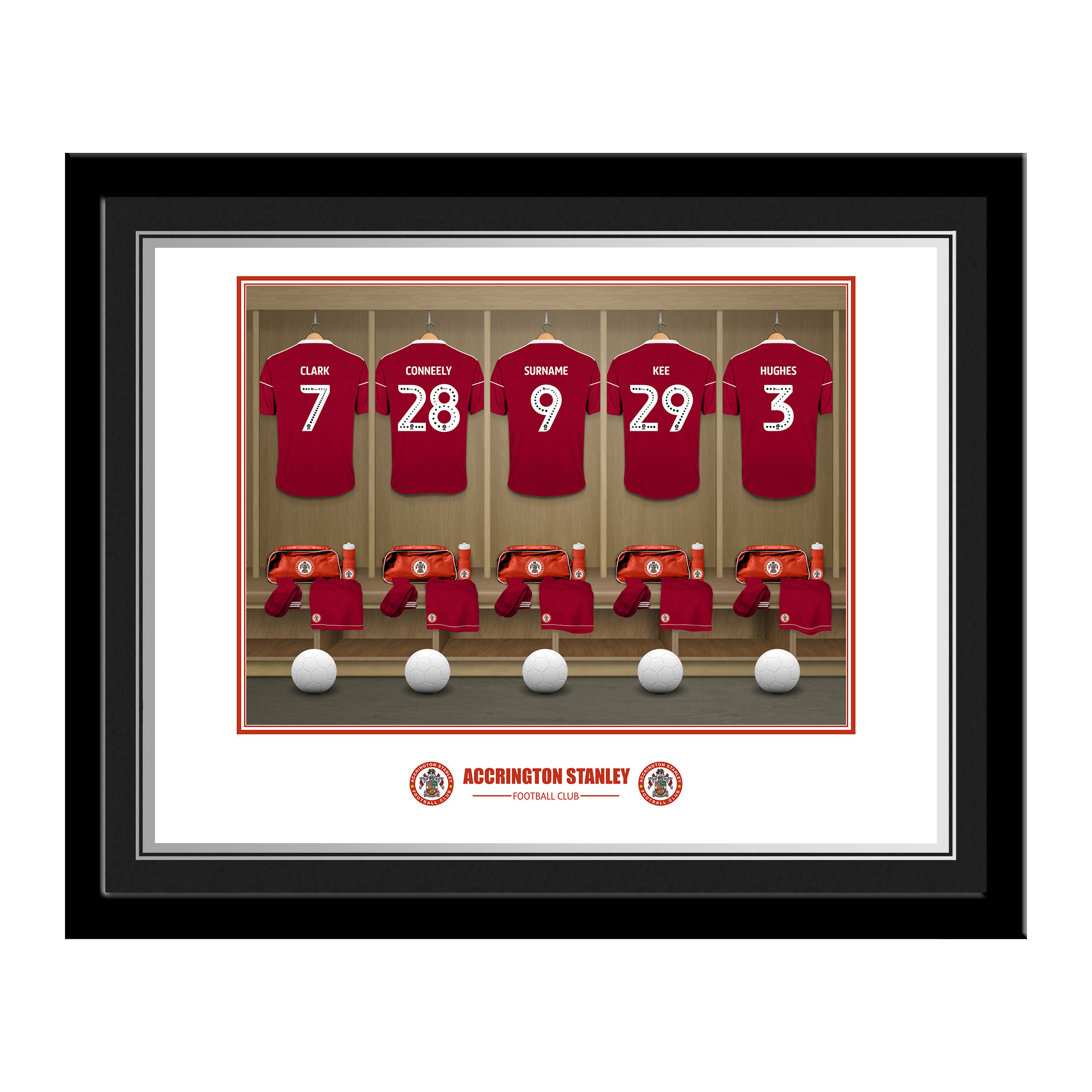 Accrington Stanley FC Dressing Room Photo Framed