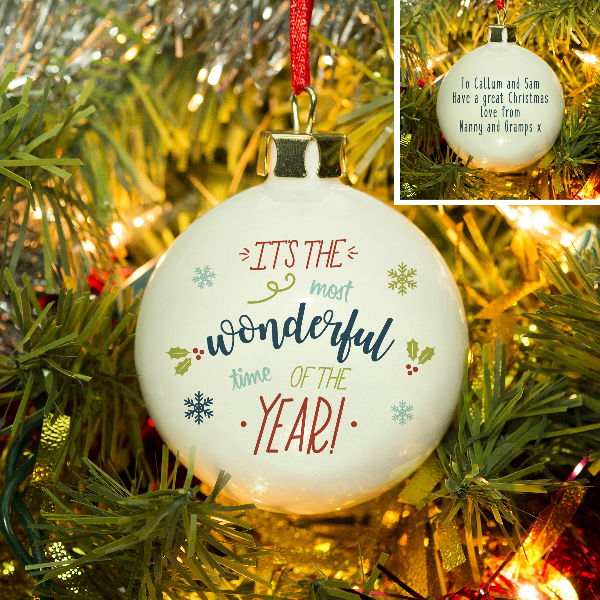 The Most Wonderful Time Of The Year Bauble