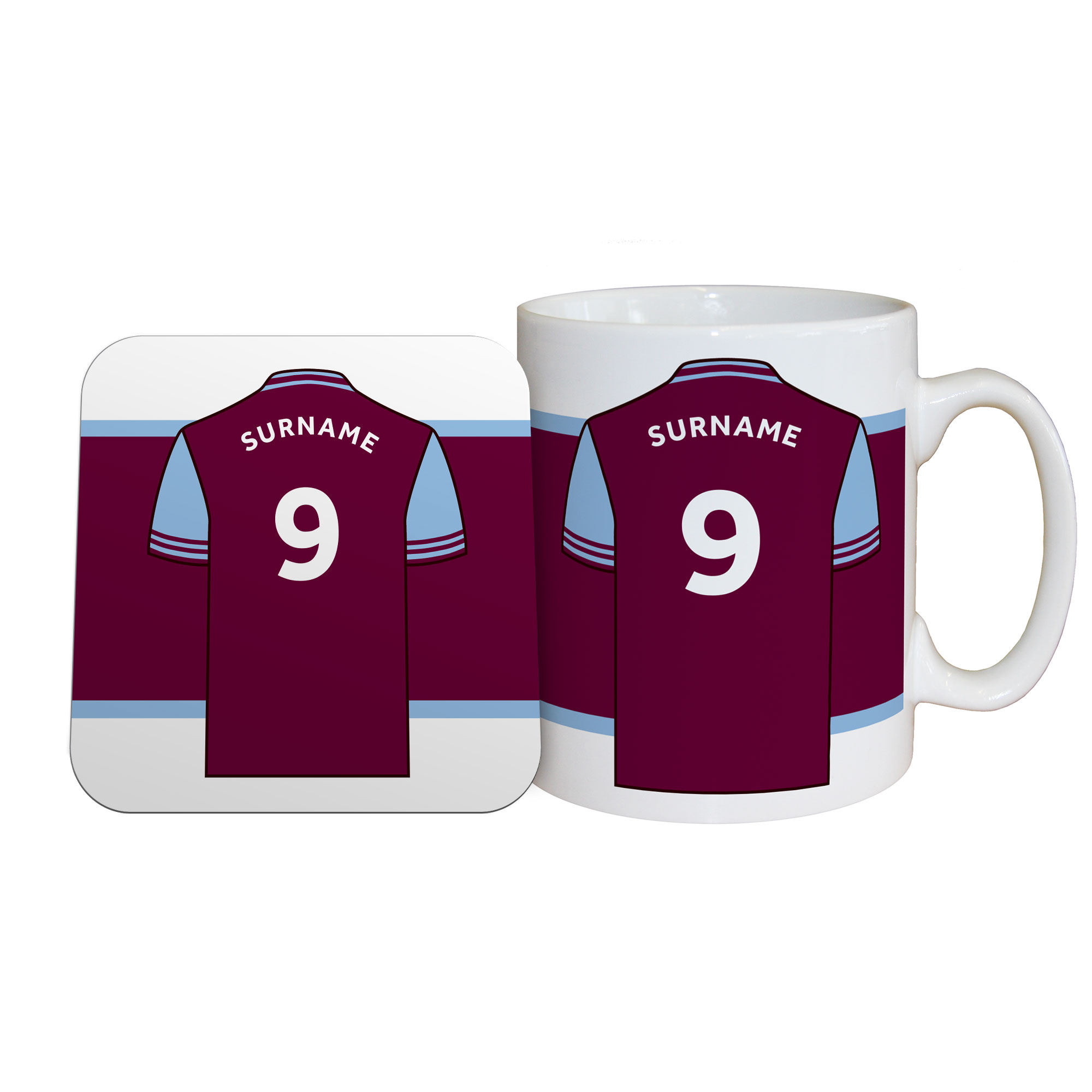 Aston Villa FC Shirt Mug & Coaster Set