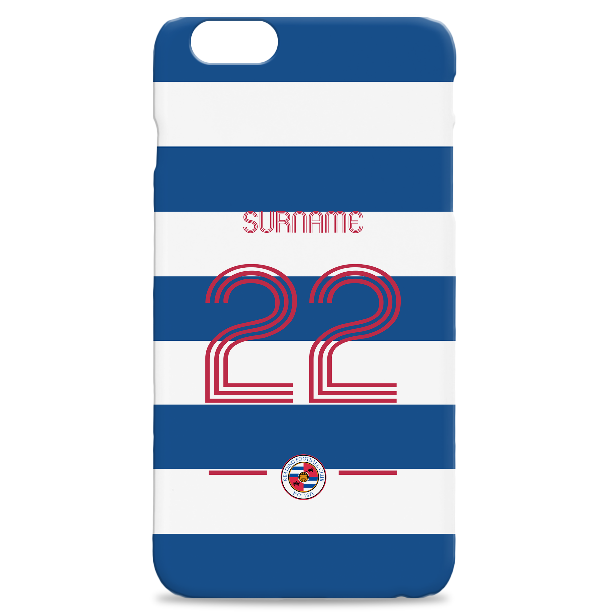 Reading Retro Shirt Hard Back Phone Case