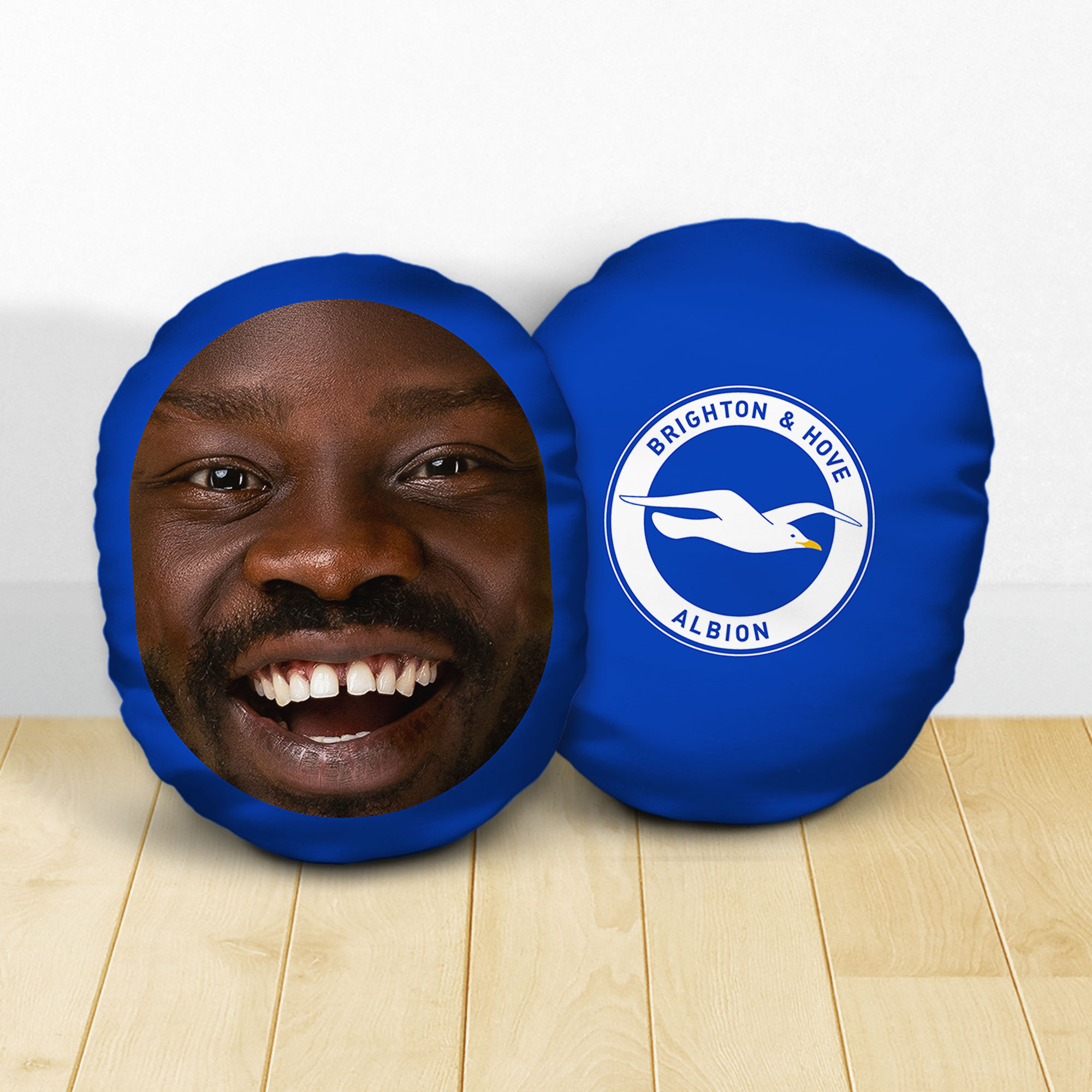 Personalised Brighton & Hove Albion FC Crest Mush Cush