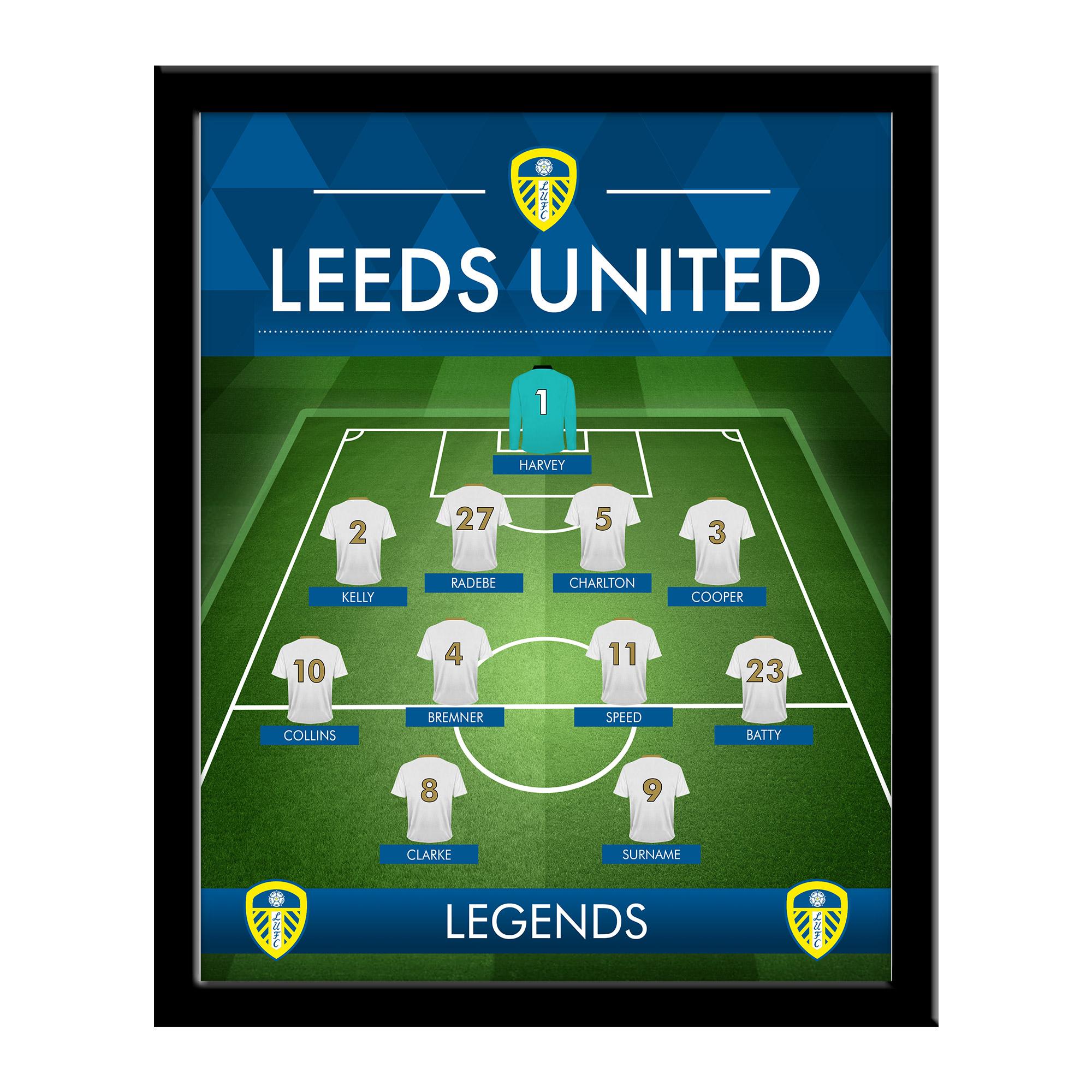 Leeds United FC Legends Line-Up Print - Framed
