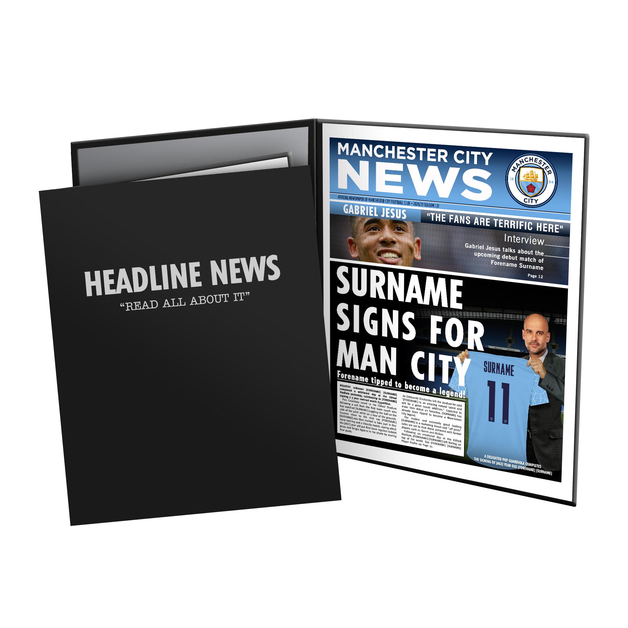 Manchester City FC News Folder