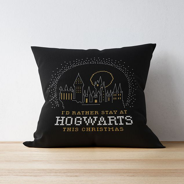 Harry Potter™ Personalised Cushion - Hogwarts This Christmas