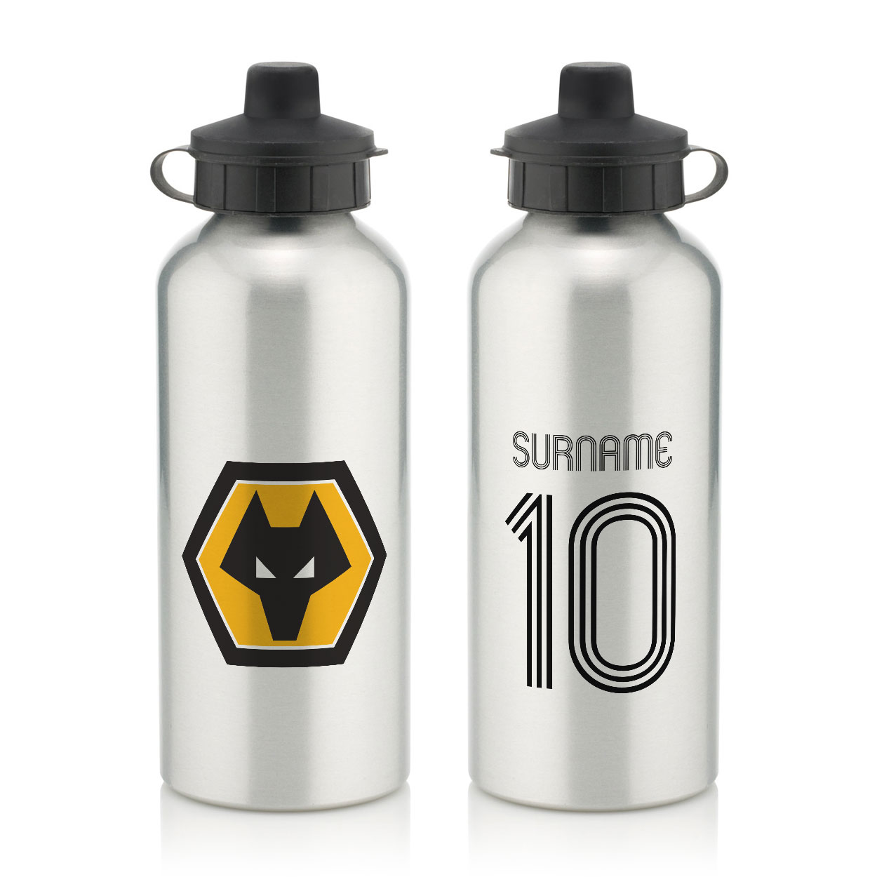 Wolverhampton Wanderers FC Retro Shirt Water Bottle
