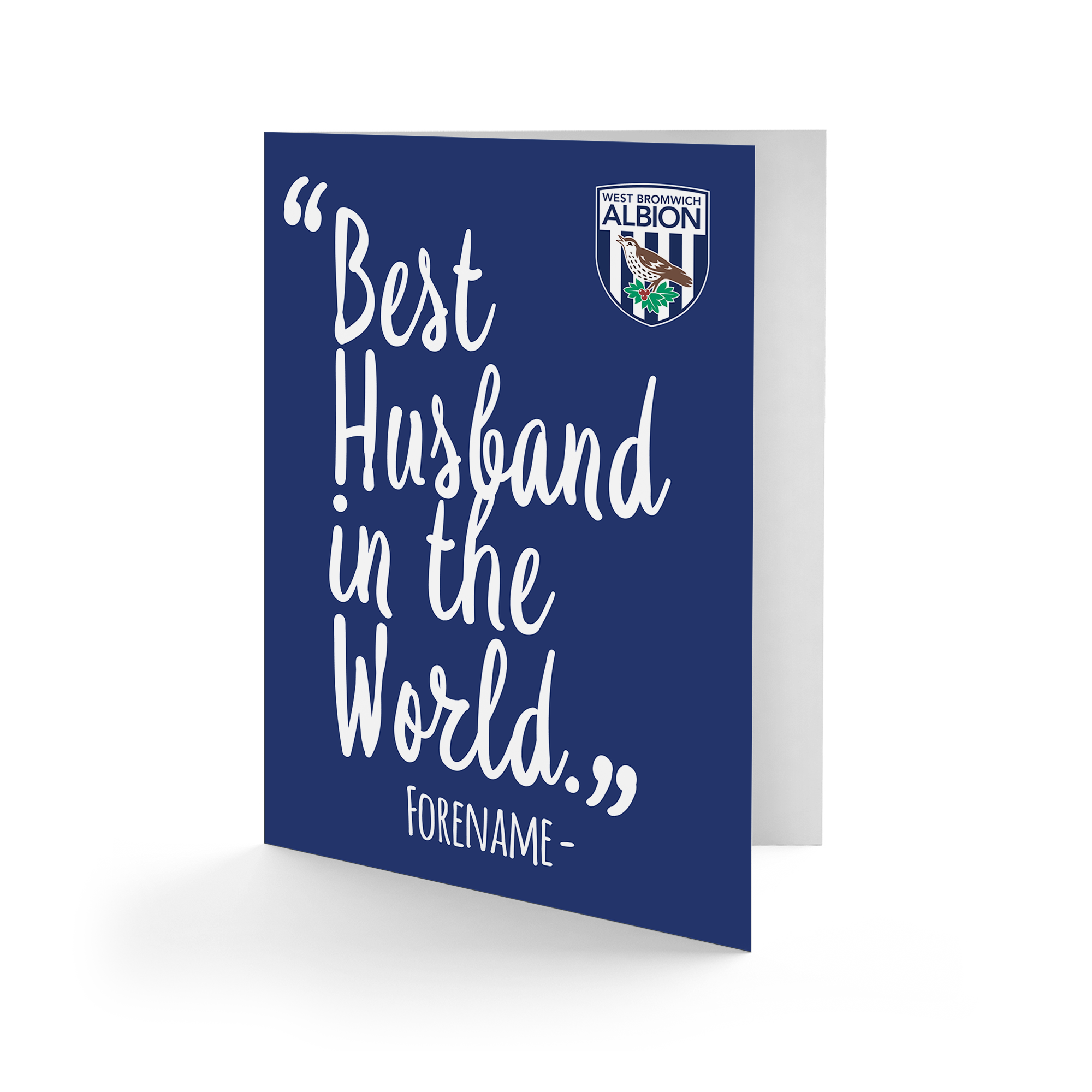 West Bromwich Albion FC Best Husband In The World Card