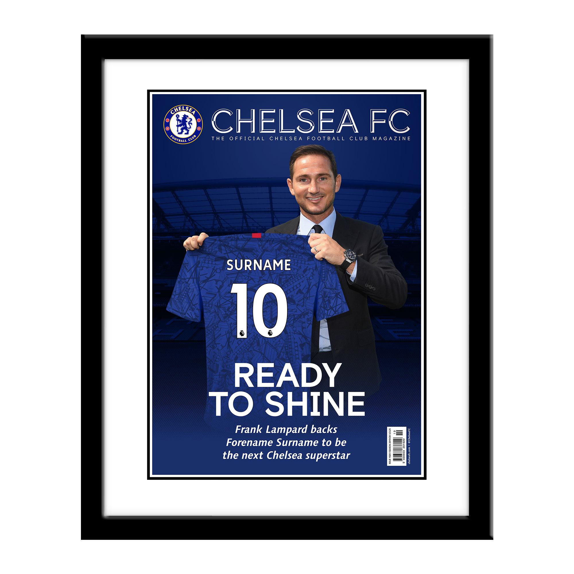 Chelsea FC Magazine Front Cover Framed Print