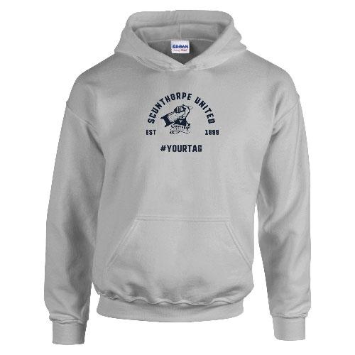 Scunthorpe United FC Vintage Hashtag Hoodie