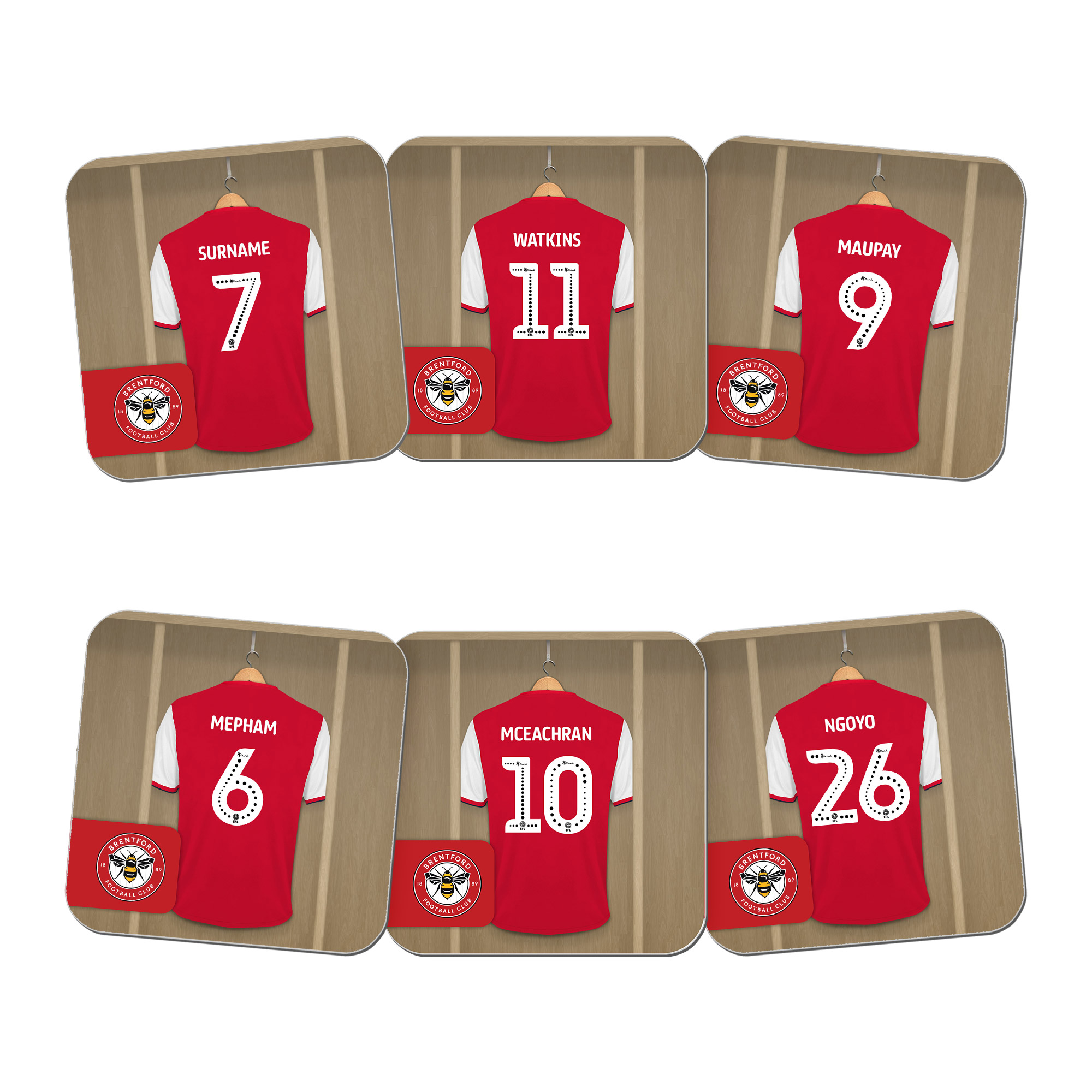 Brentford FC Dressing Room Coasters