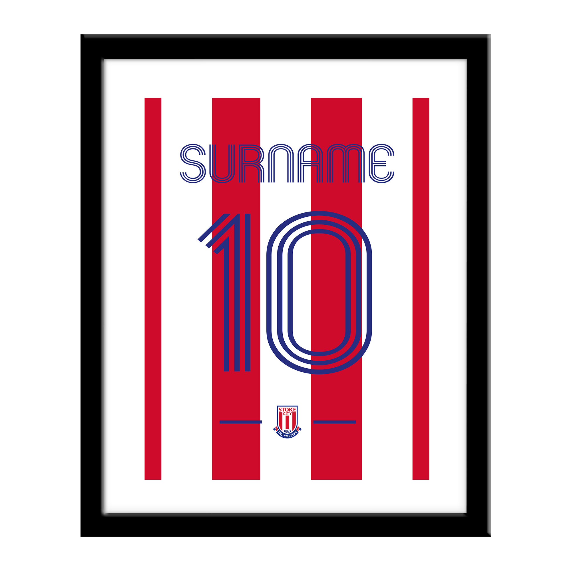 Stoke City FC Retro Shirt Print